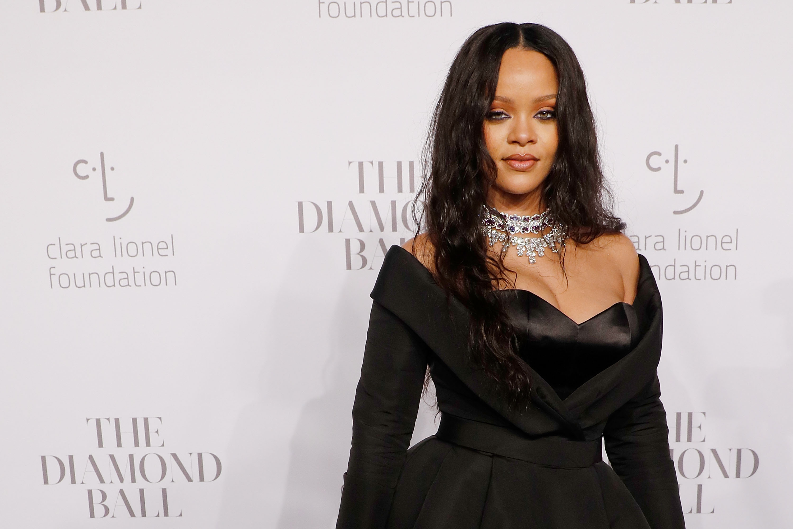 Rihanna attends the 2017 Diamond Ball at Cipriani Wall Street on September 14, 2017 in New York City.
