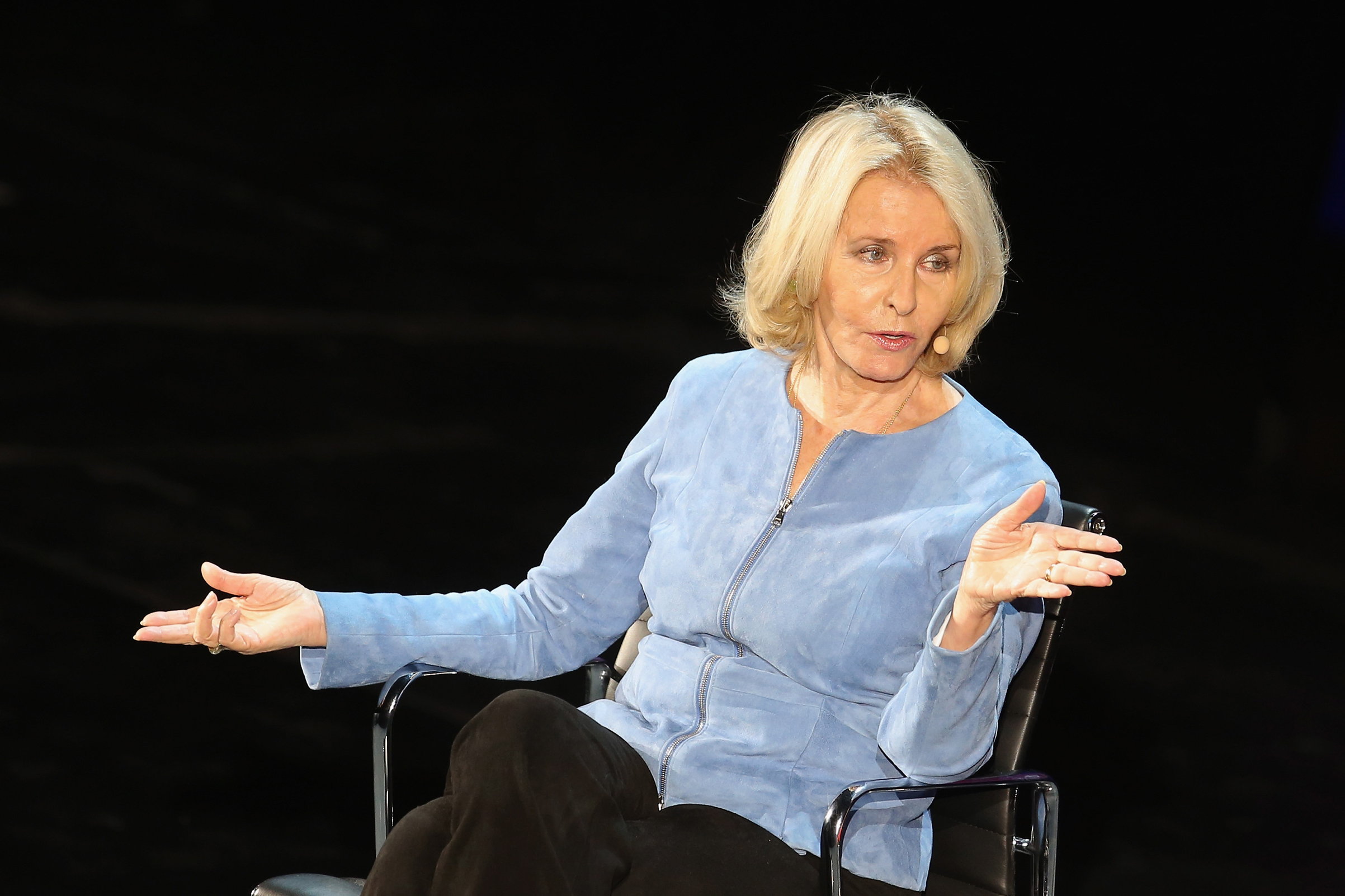 Sally Quinn speaks onstage at The Lasting Impact of Anita Hill during Tina Brown's 7th Annual Women in the World Summit at David H. Koch Theater at Lincoln Center on April 8, 2016 in New York City.