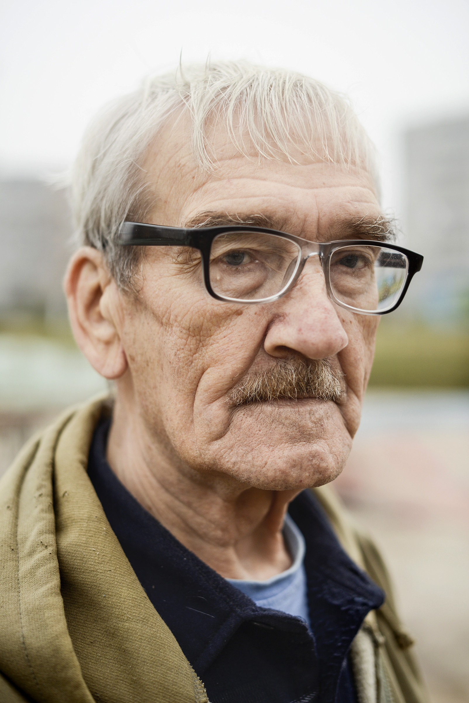 Stanislav Petrov, a former lieutenant colonel in the Soviet Air Defense Forces, photographed near his home in Moscow, Oct. 24, 2015.