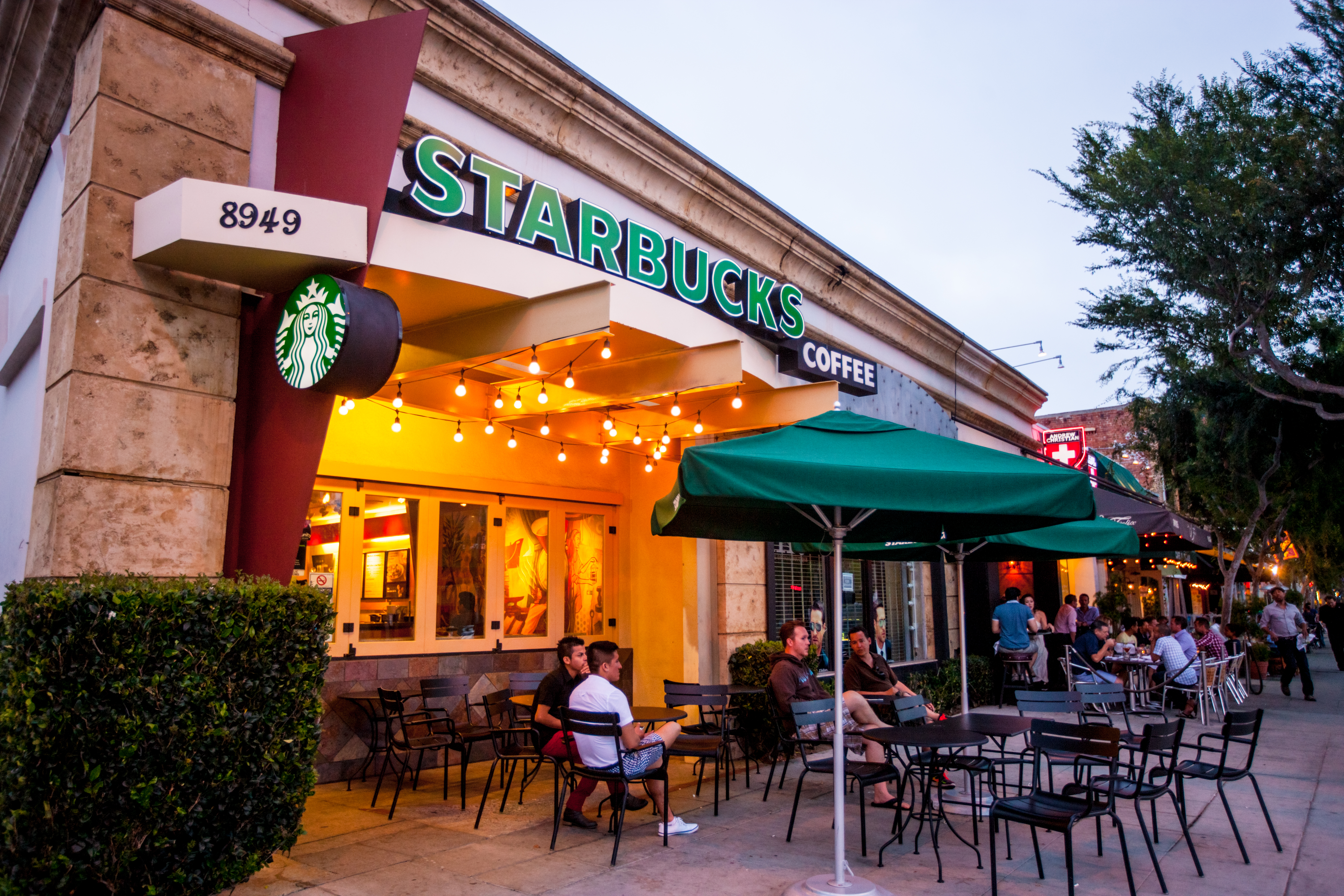 Starbucks Coffee in West Hollywood, California.