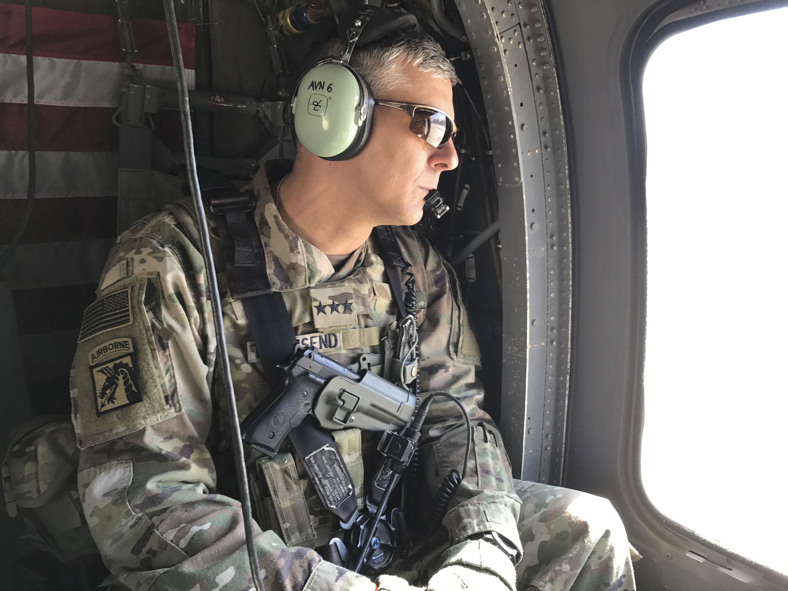 U.S. Army Lt. Gen. Stephen Townsend during a tour north of Baghdad, Iraq, on Feb. 8, 2017.