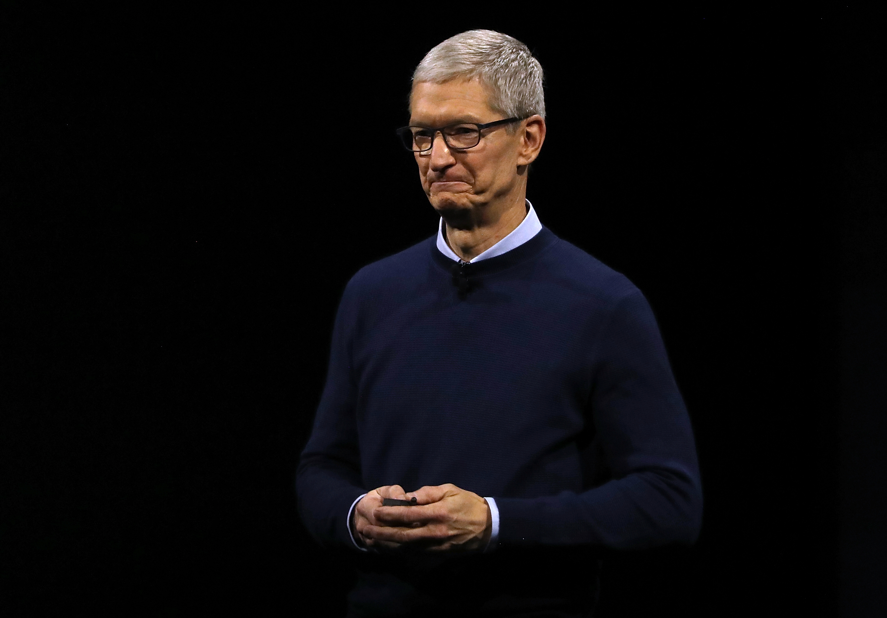 Apple CEO Tim Cook delivers the opening keynote address the 2017 Apple Worldwide Developer Conference (WWDC) at the San Jose Convention Center on June 5, 2017 in San Jose, California.