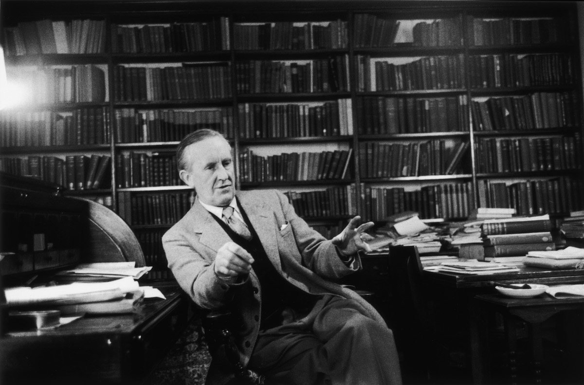 JRR Tolkien photographed on Dec. 2, 1955