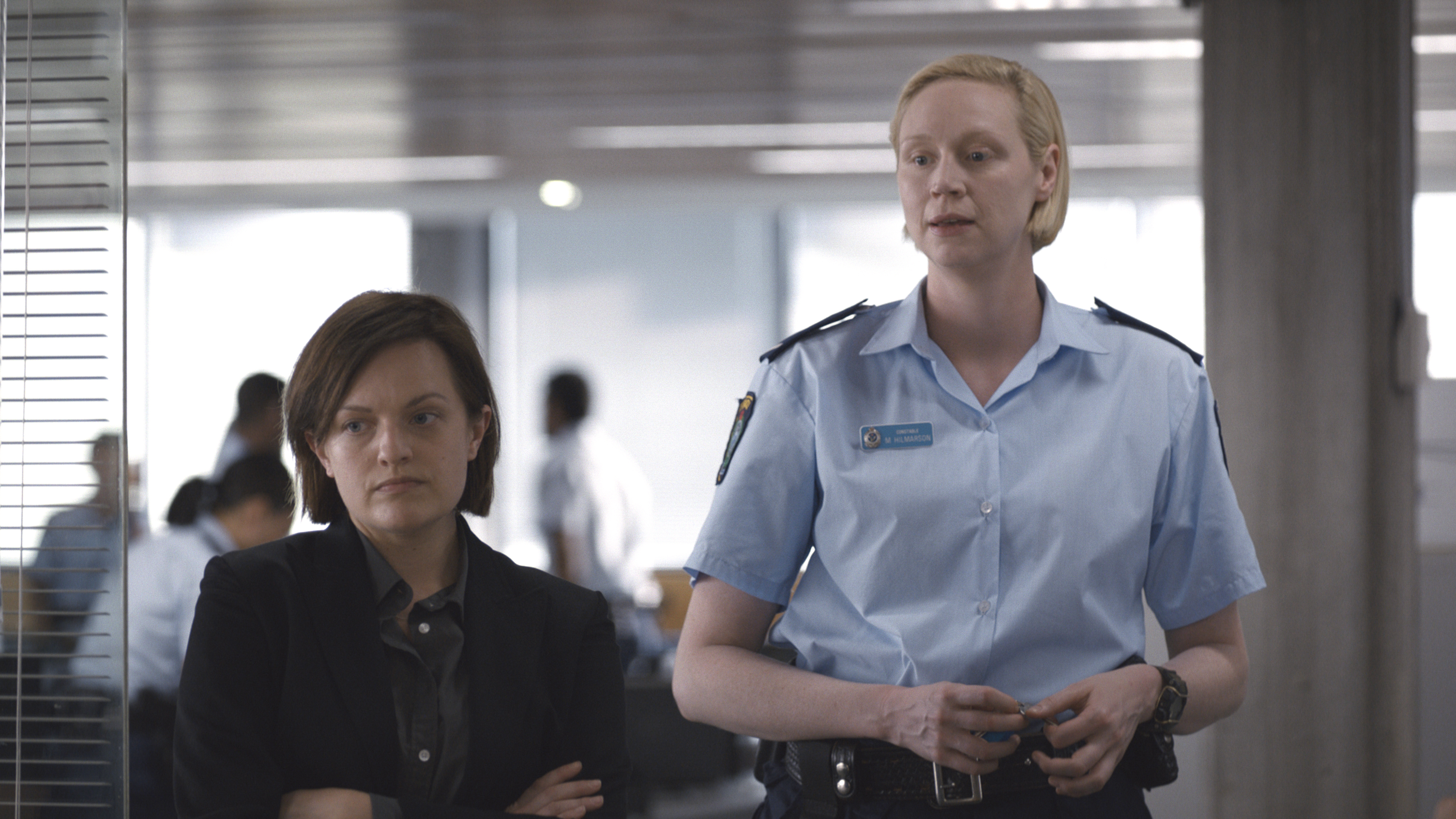 Elisabeth Moss as Detective Robin Griffin, Gwendoline Christie as Miranda Hilmarson - Top Of The Lake: China Girl _ Season 2, Episode 1 - Photo Credit: See-Saw Films/SundanceTV