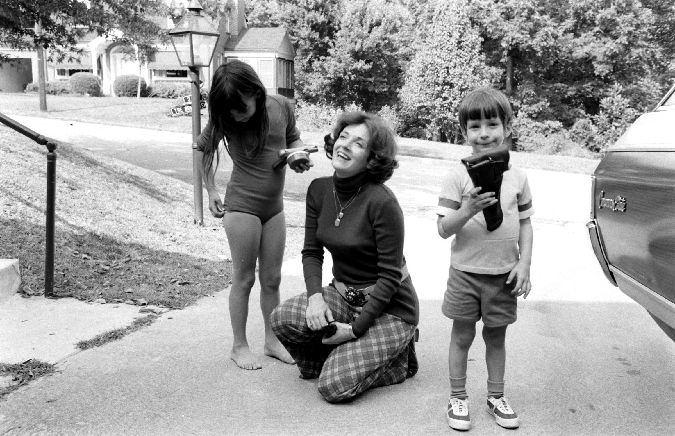 Valerie Kushner with her children Toni Jean and Mike.
