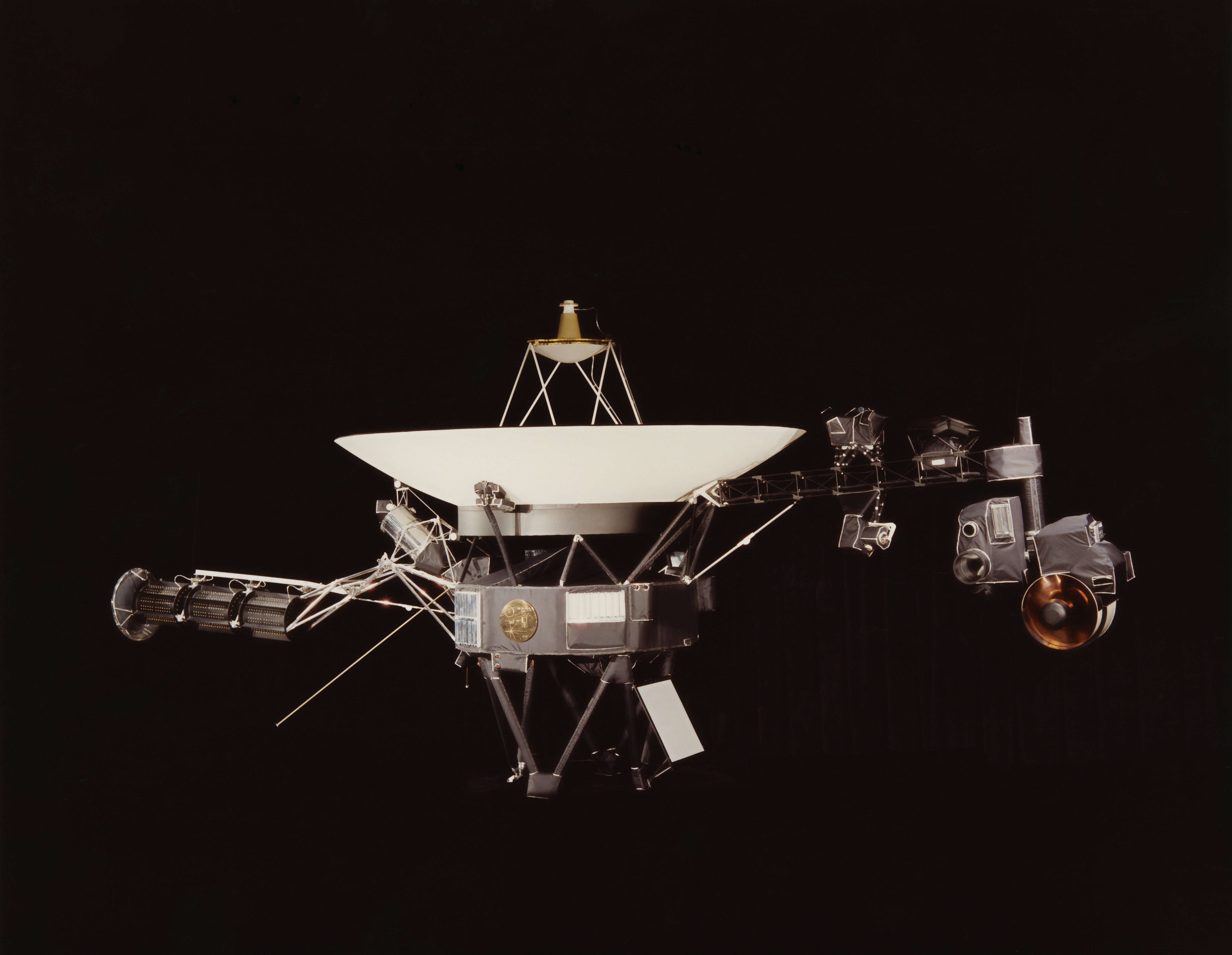 Voyager 1 and its identical sister craft Voyager 2 were launched in 1977 to study the outer Solar System and eventually interstellar space.