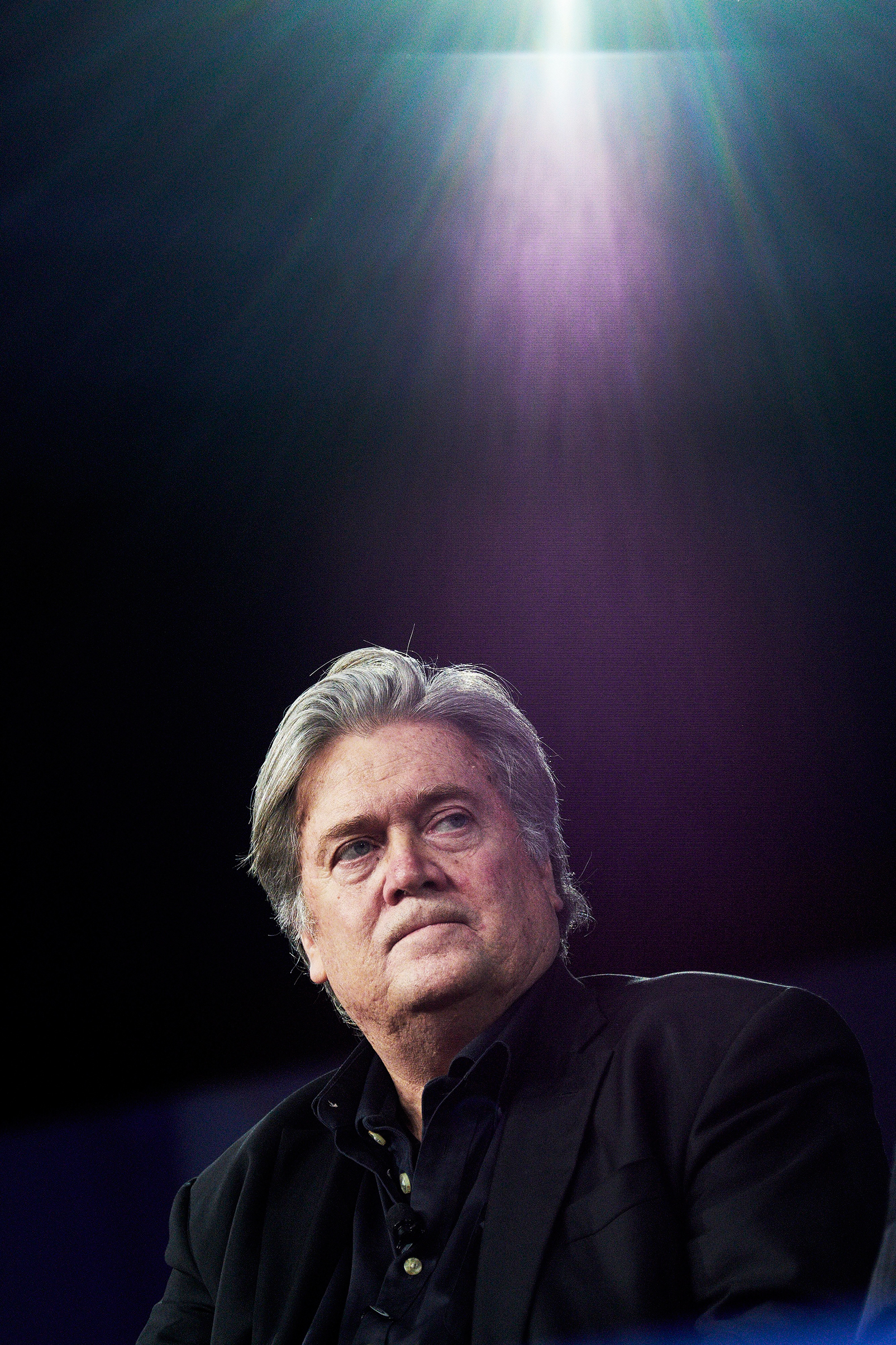 Bannon speaks to supporters in February at the Conservative Political Action Conference outside Washington