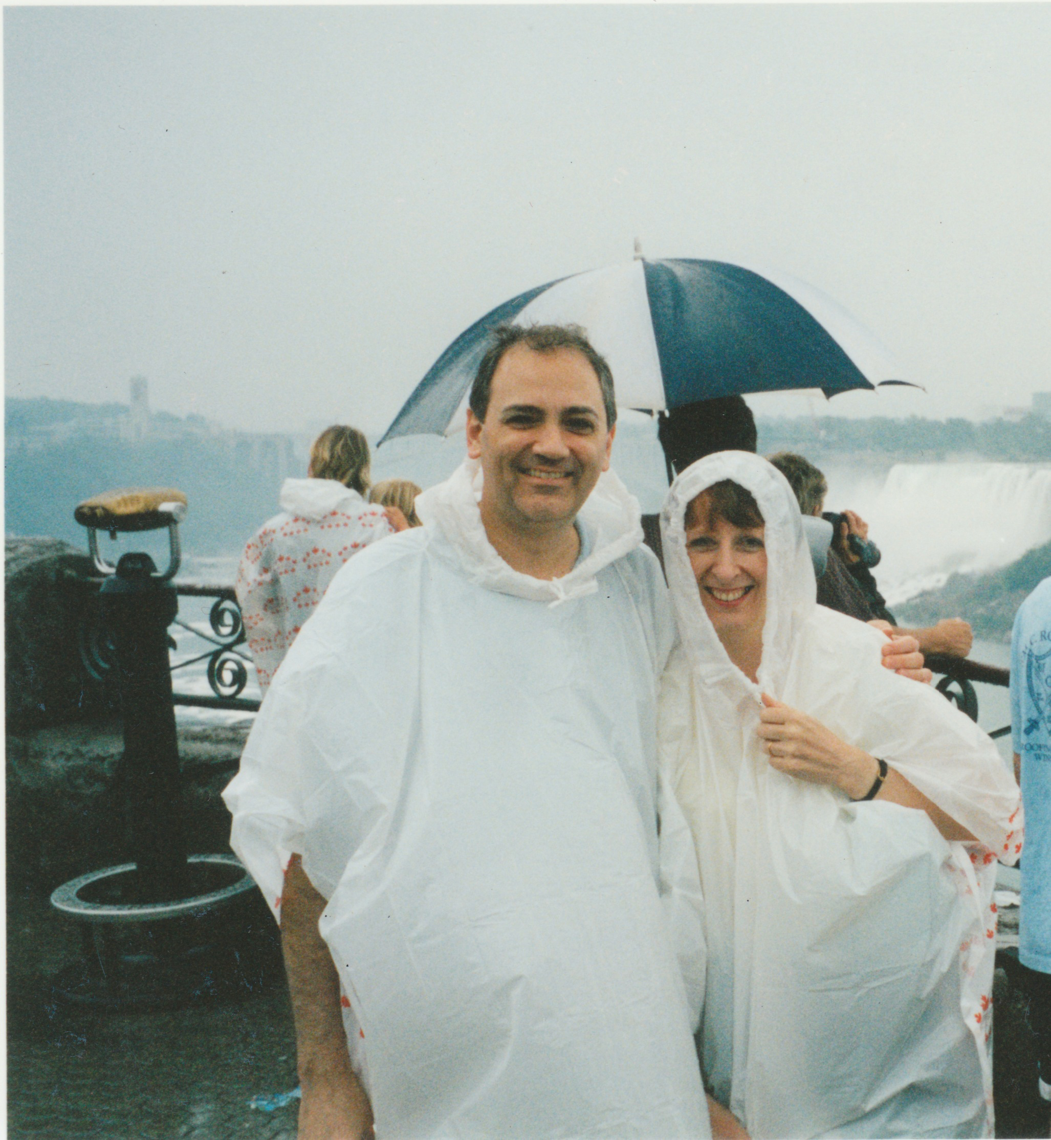 Charles G. Wolf with his late wife Katherine at Niagra Falls, 3 weeks before 9/11