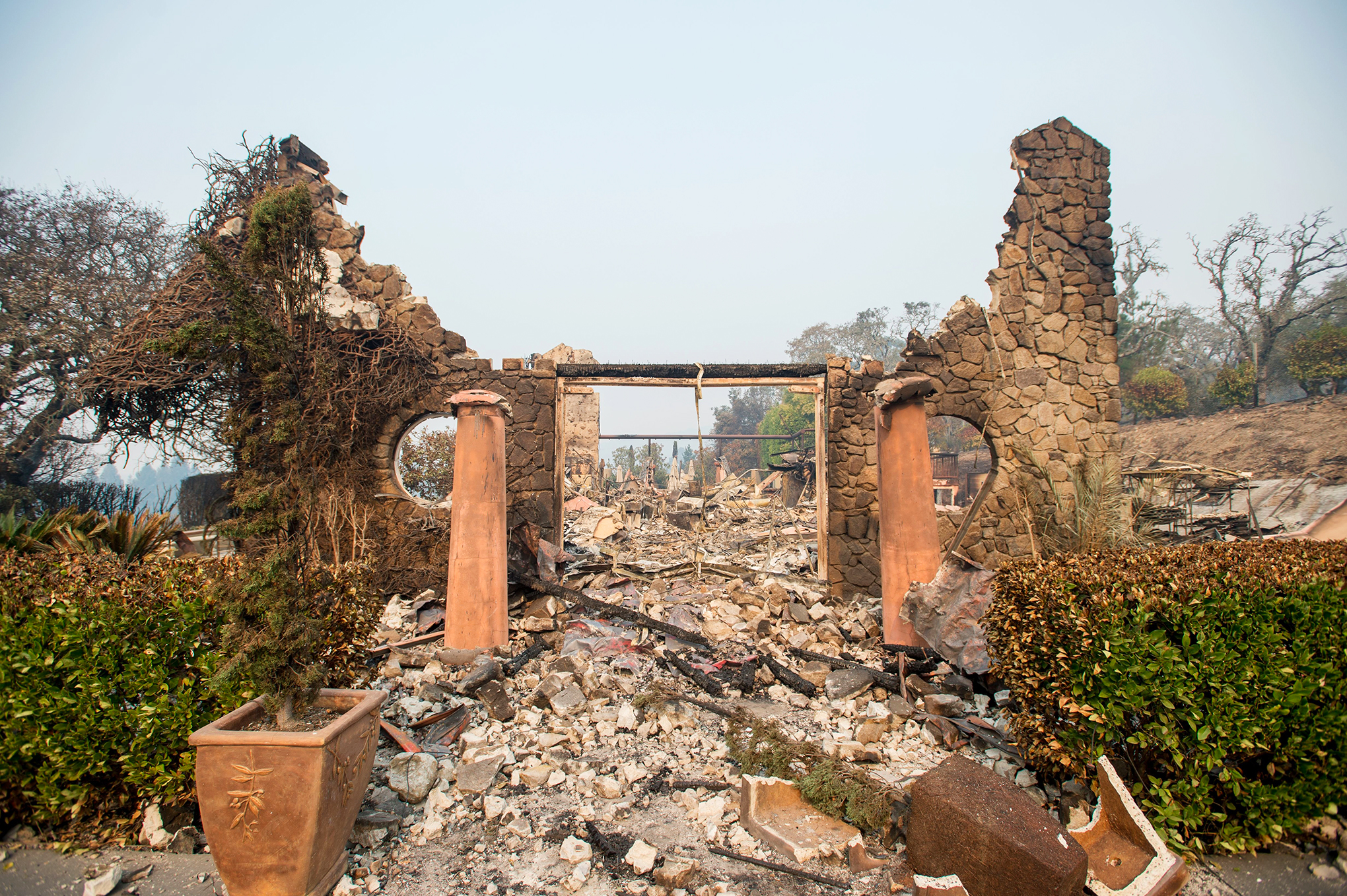 The Signorello Estate winery, in Napa, Calif., seen on Oct. 11, after fire destroyed it.