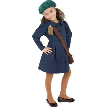 The  World War II Evacuee Girl Costume  pictured on TheHalloweenSpot.com, which has since removed the costume.