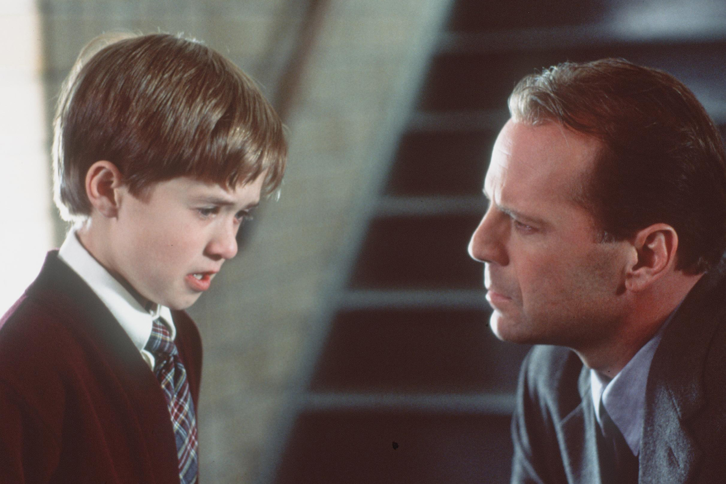 Bruce Willis and Haley Joel Osment in 'The Sixth Sense'.