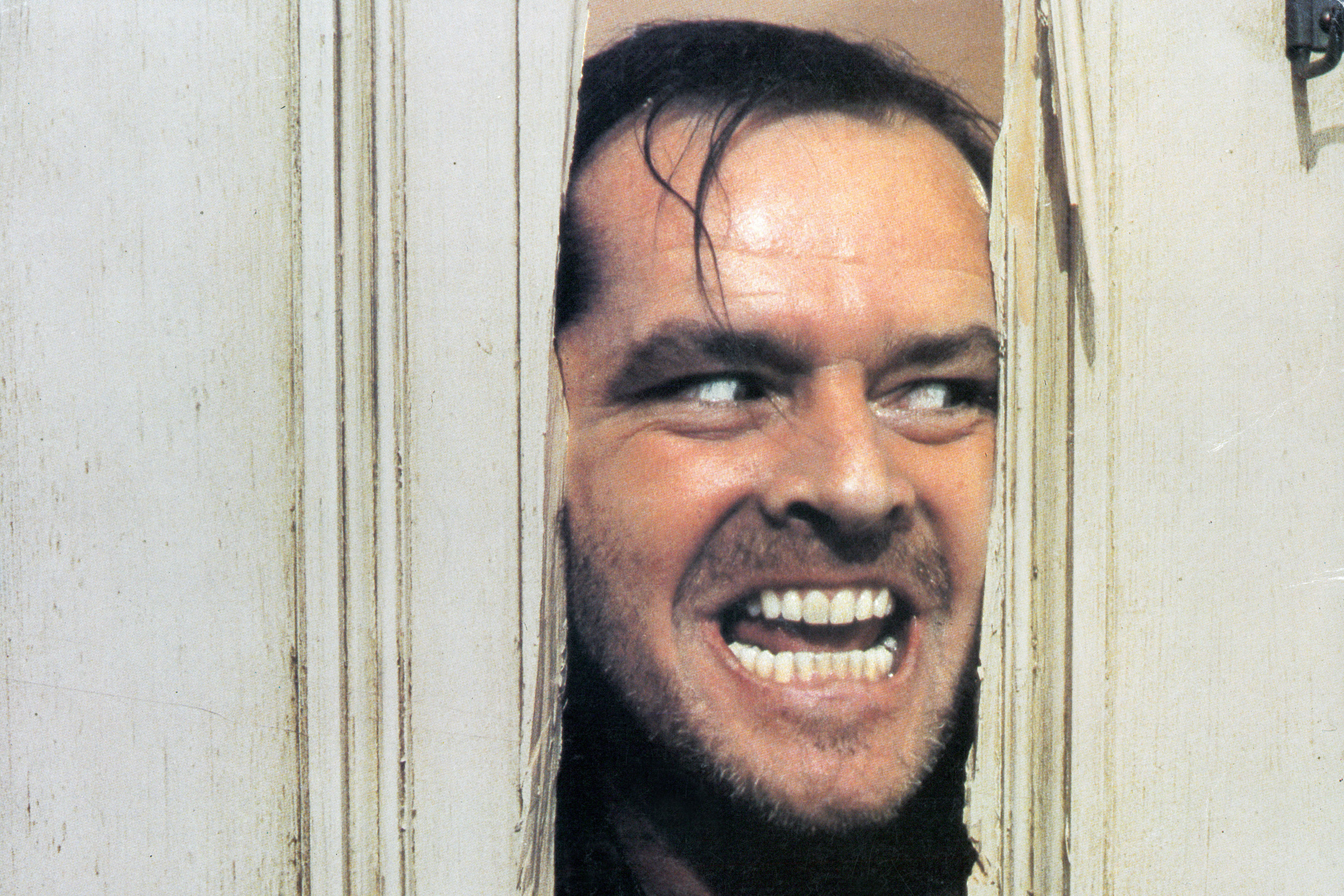 Jack Nicholson in the film 'The Shining', 1980.