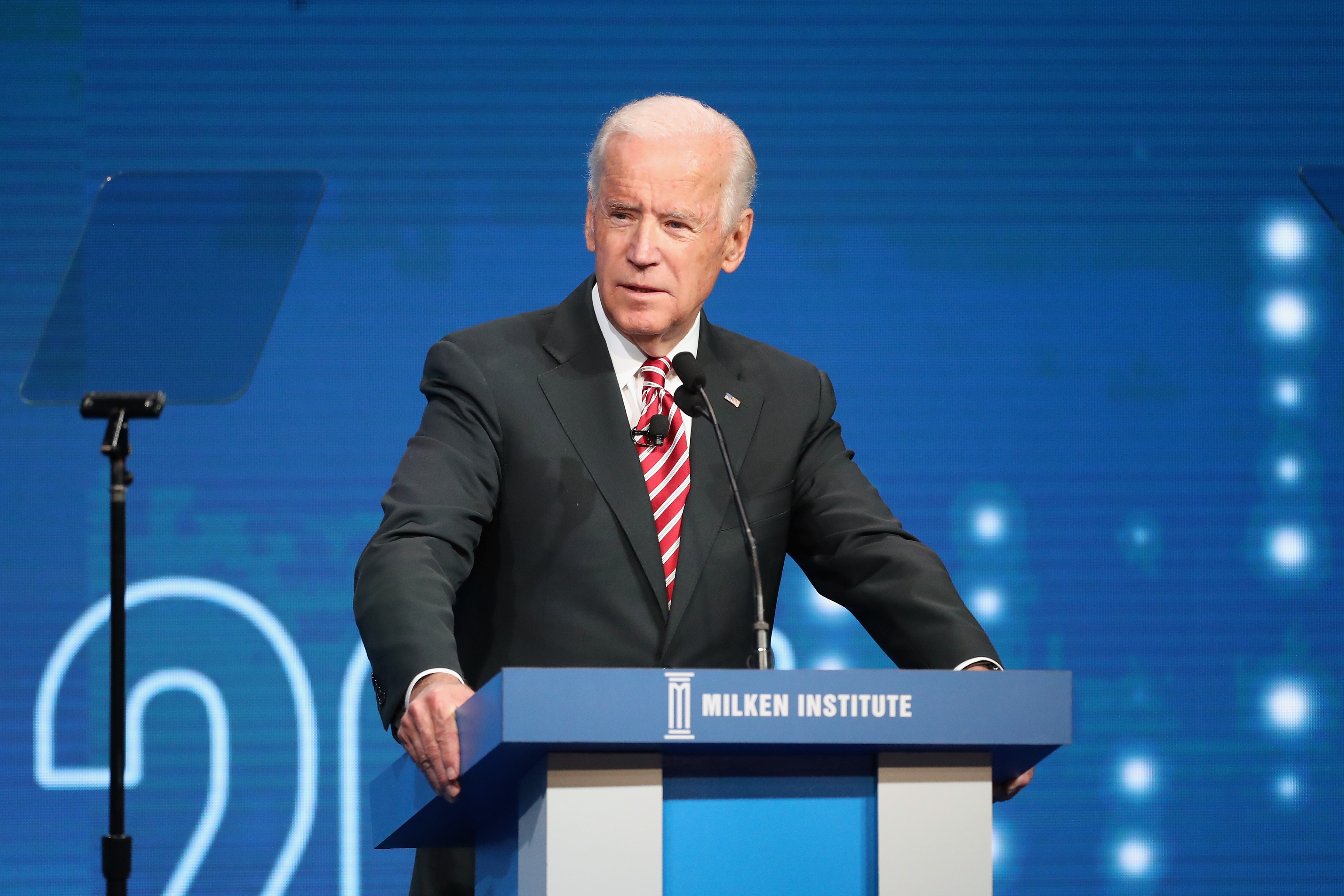 Former U.S. Vice President Joe Biden speak during the Milken Institute Global Conference 201 on May 3, 2017 in Beverly Hills, California.