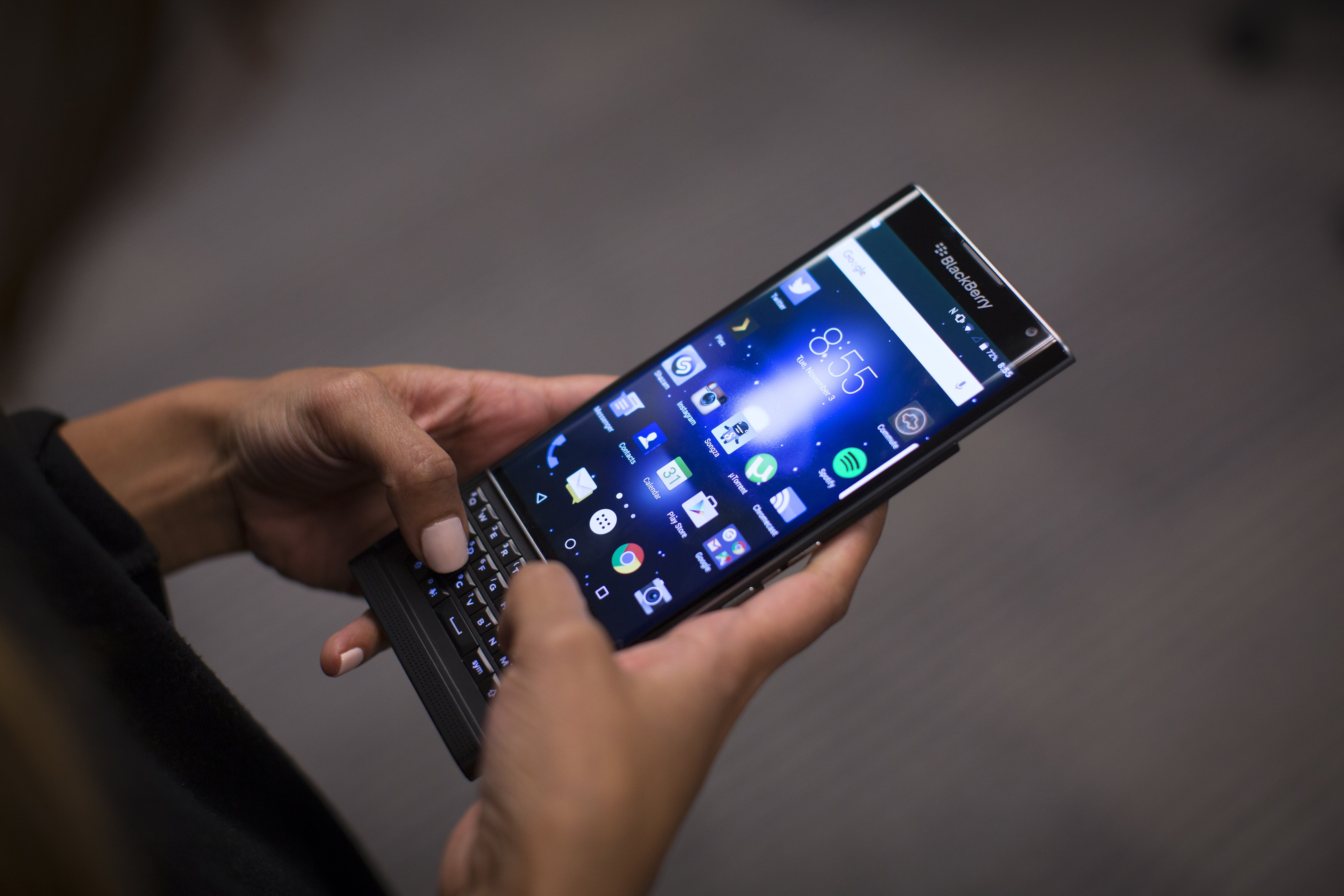 New BlackBerry Priv that runs on the Android system.