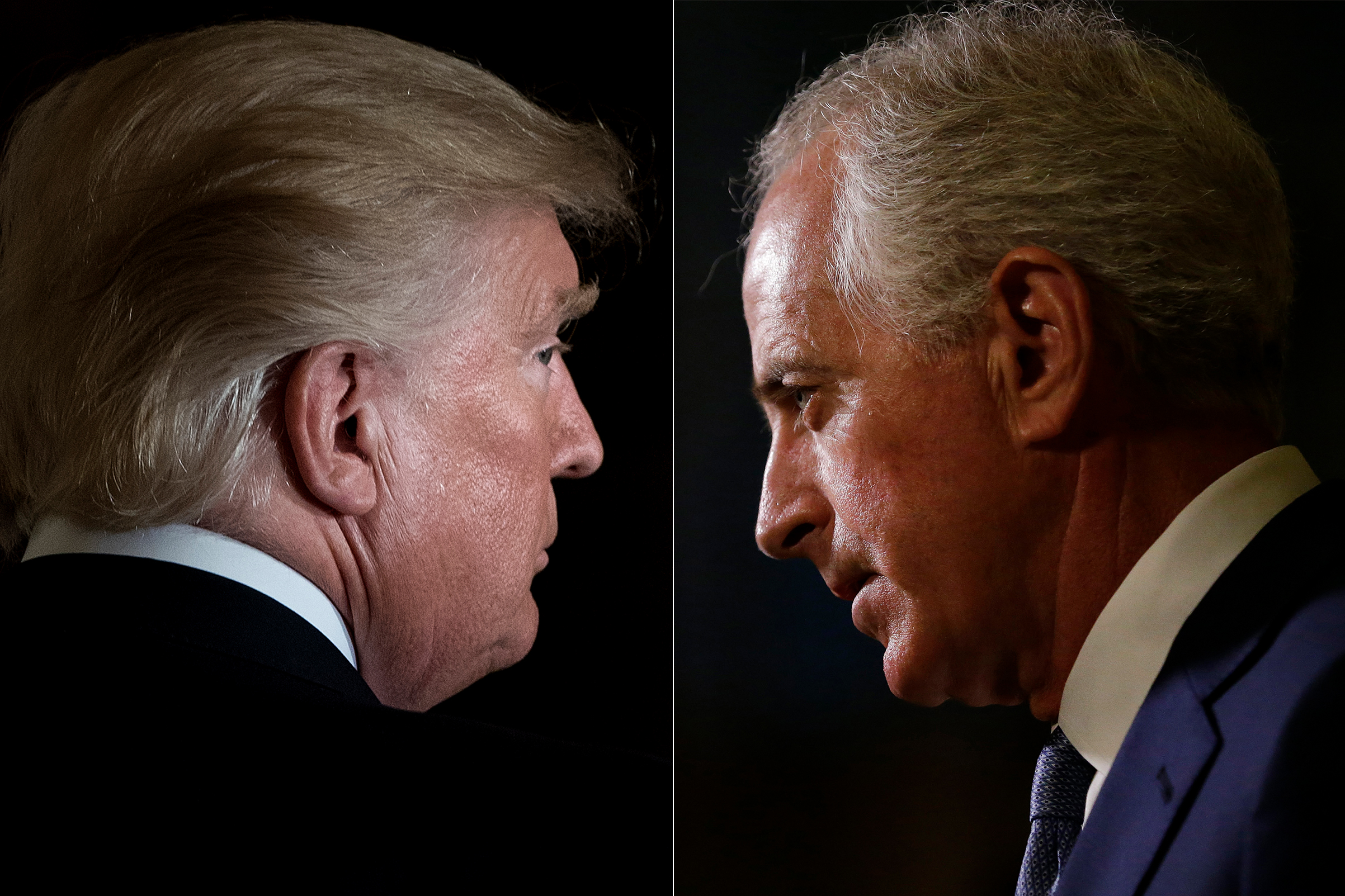 President Donald Trump leaves after a Hispanic Heritage Month event in the East Room of the White House October 6, 2017 in Washington, DC.                   ; Senator Bob Corker, a Republican from Tennessee, speaks to the media in the lobby at Trump Tower in New York, U.S., on Tuesday, Nov. 29, 2016 in New York City.