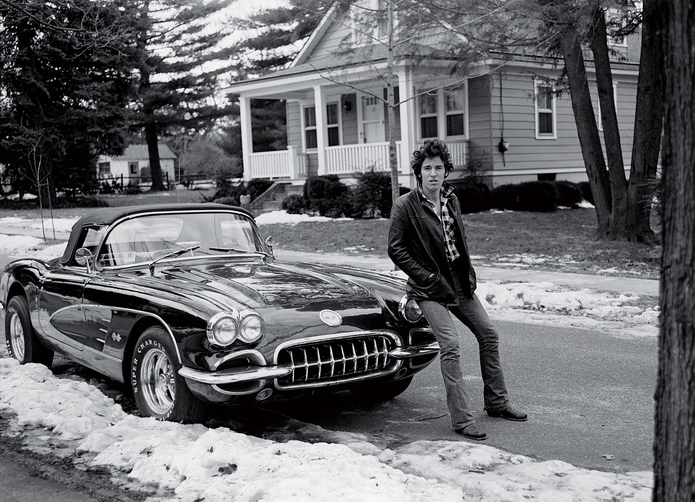 """Corvette Winter"" shot used by Springsteen on the cover of his autobiography ""Born To Run""."
