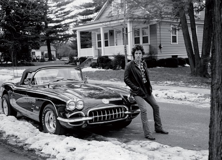 Bruce Springsteen by Frank Stefanko from the book Bruce Springsteen. Further Up The Road.