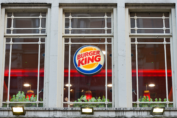 A view of Burger King  in Dublin's city center.