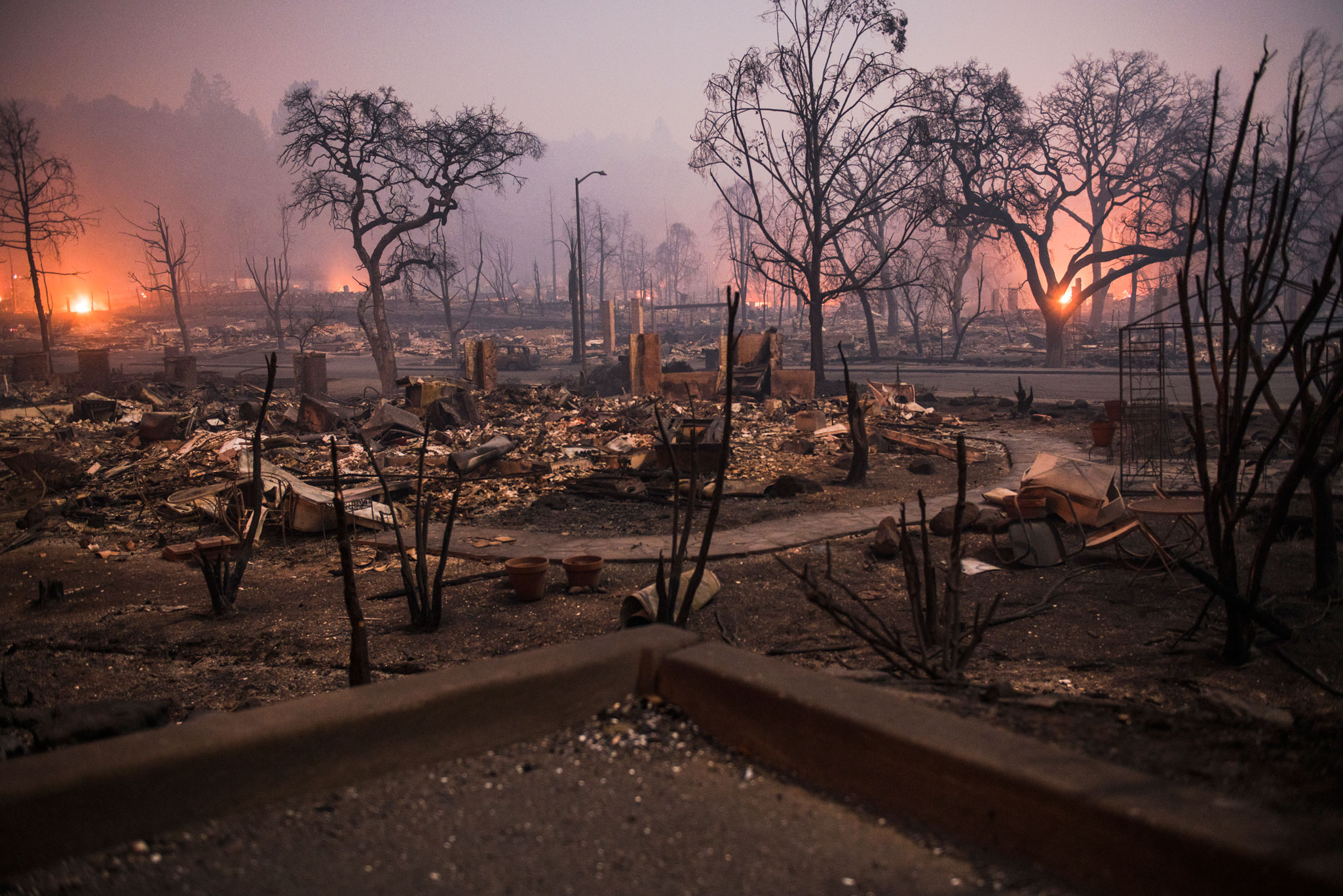 Santa Rosa, a city of 175,000 people in Sonoma County, saw widespread destruction as fires ravaged homes and businesses