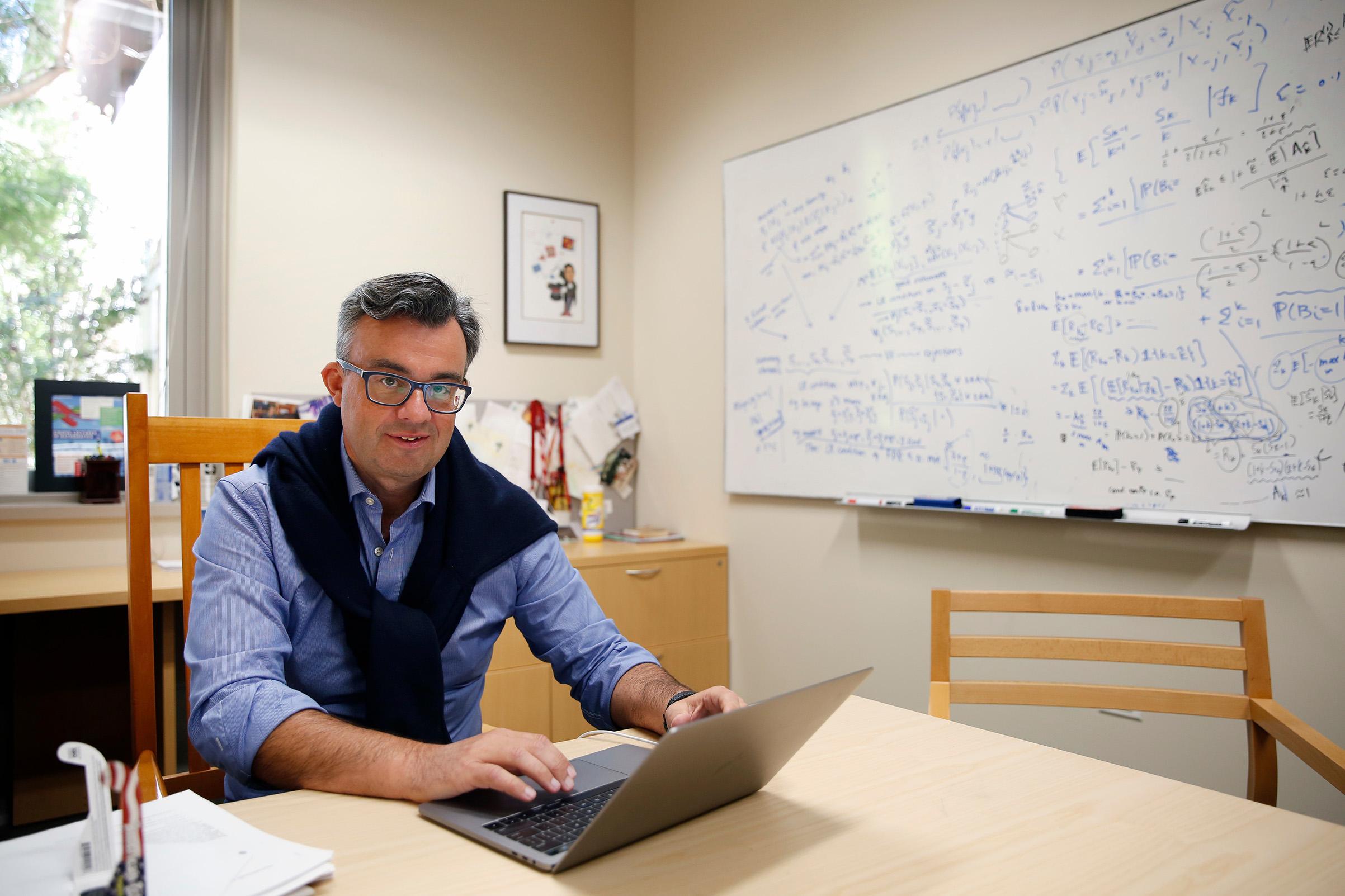 Emmanuel Candes, 2017 MacArthur Fellow, Stanford University, Palo Alto, CA, on Sept. 22, 2017.