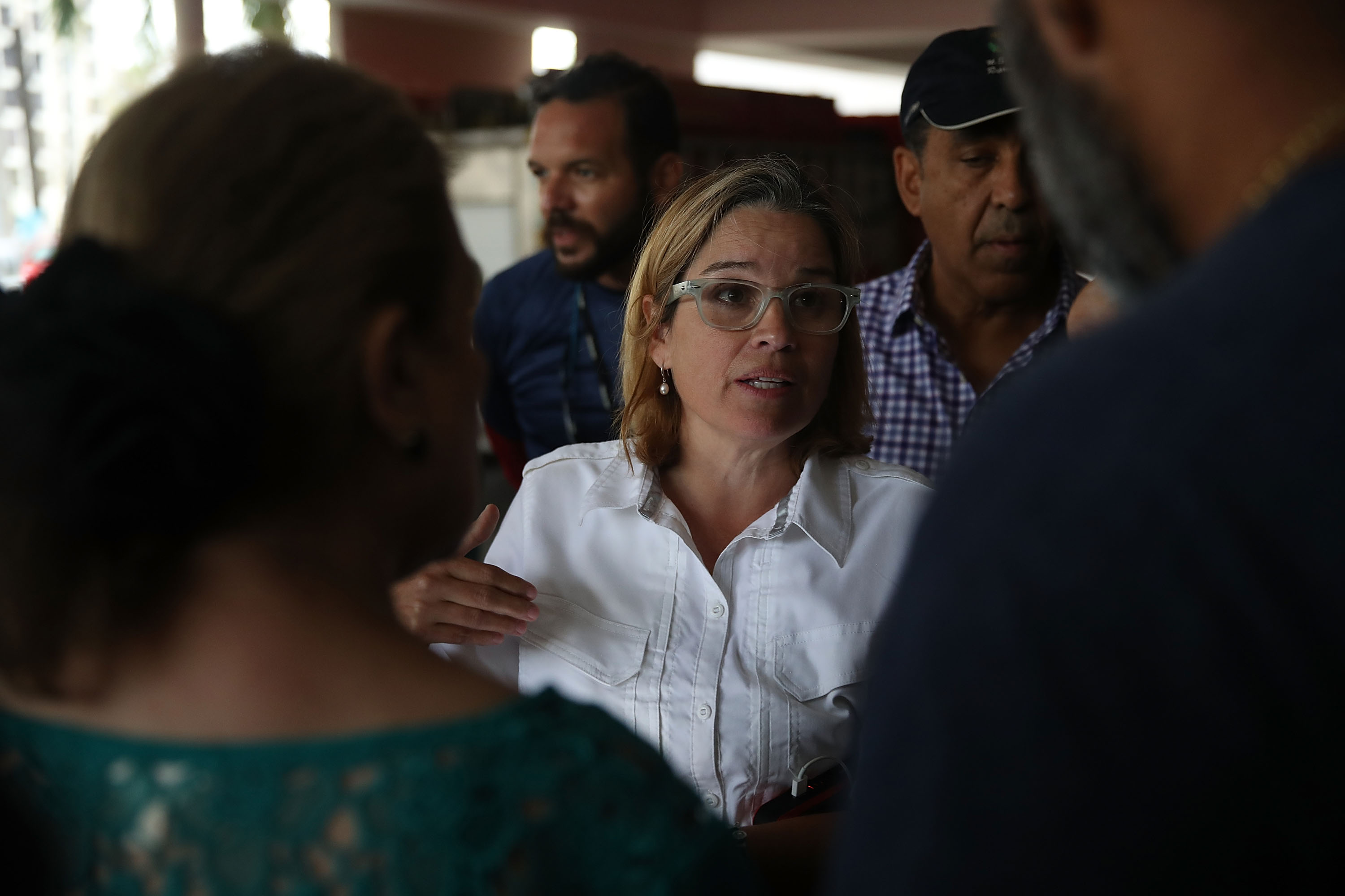 San Juan Mayor Carmen Yulin Cruz in the aftermath of Hurricane Maria on September 30, 2017 in San Juan, Puerto Rico.