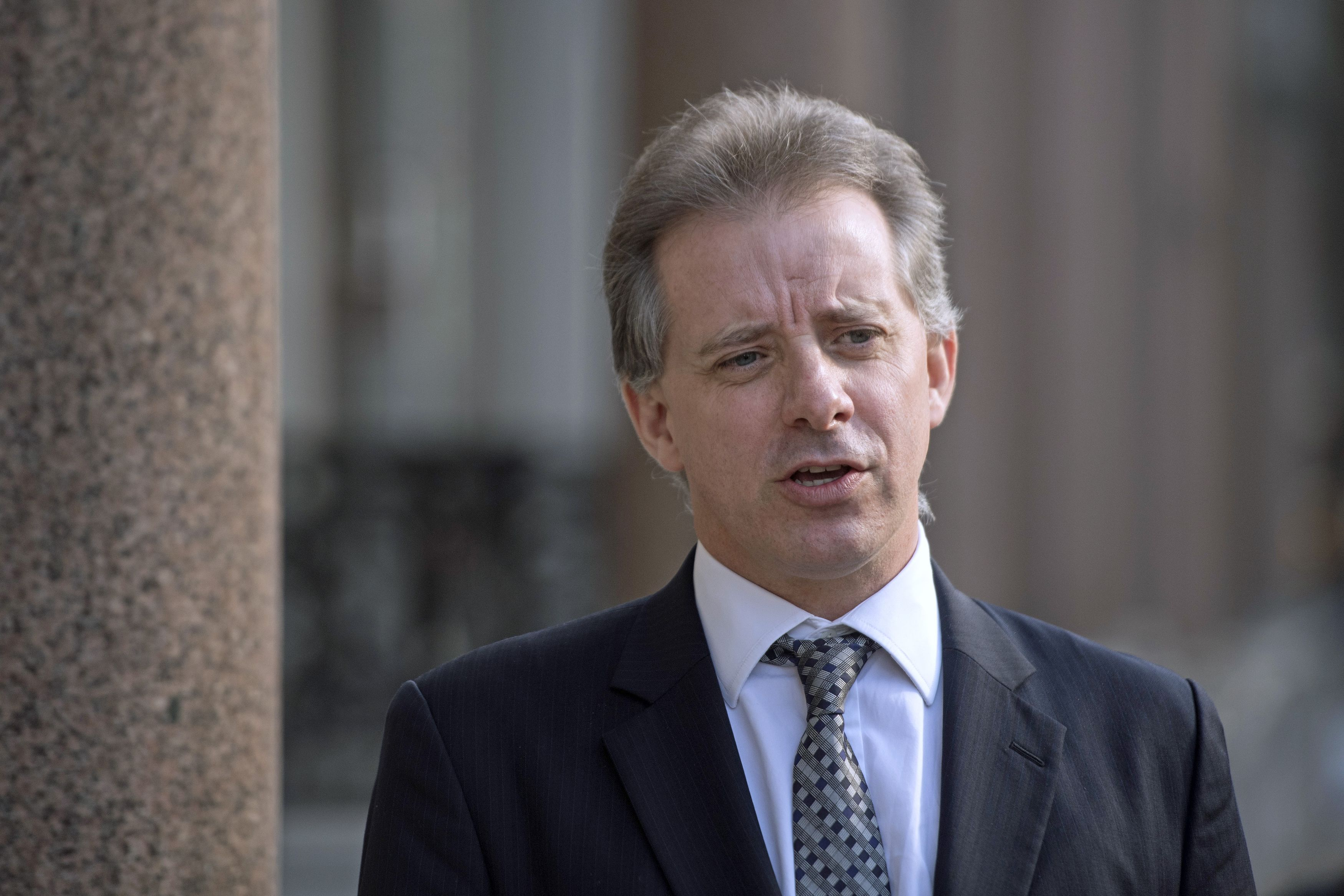 Christopher Steele, the former MI6 agent who compiled a dossier on Donald Trump, in London in March, 2017