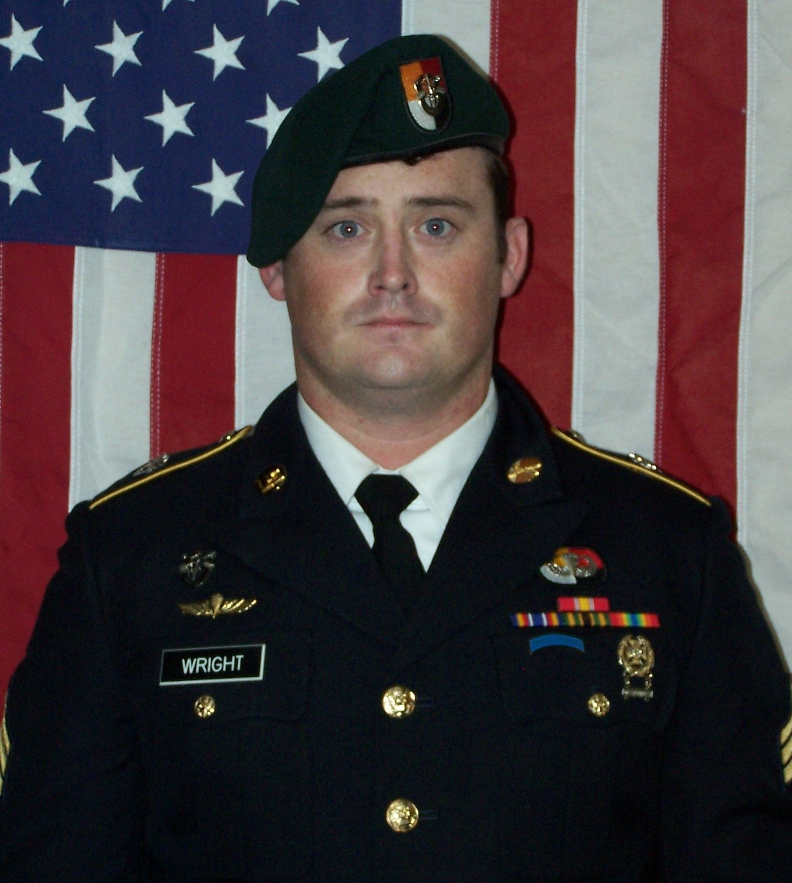 U.S. Army Sergeant Dustin Wright, who was among four special forces soldiers killed in Niger, West Africa on Oct. 4, 2017, poses in a handout photo released October 18, 2017.