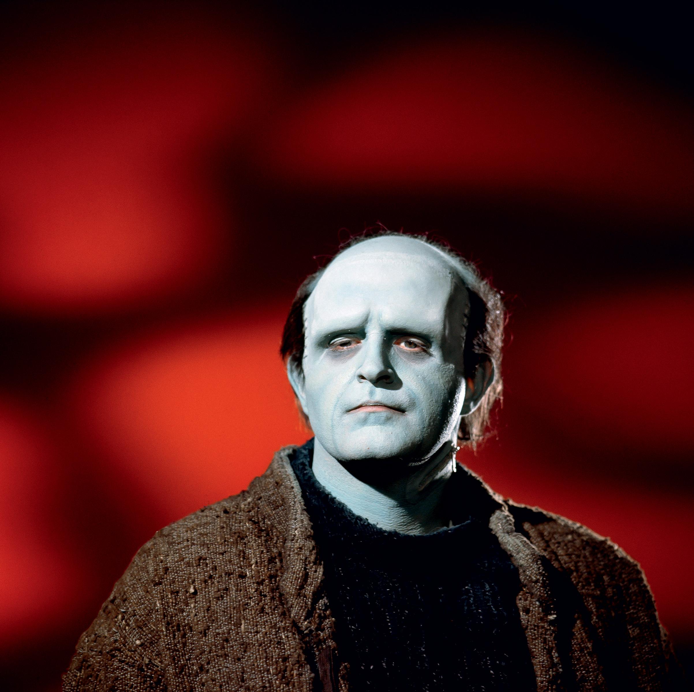 Studio Portrait of Peter Boyle as the increasingly debonair Monster in Young Frankenstein (1974).