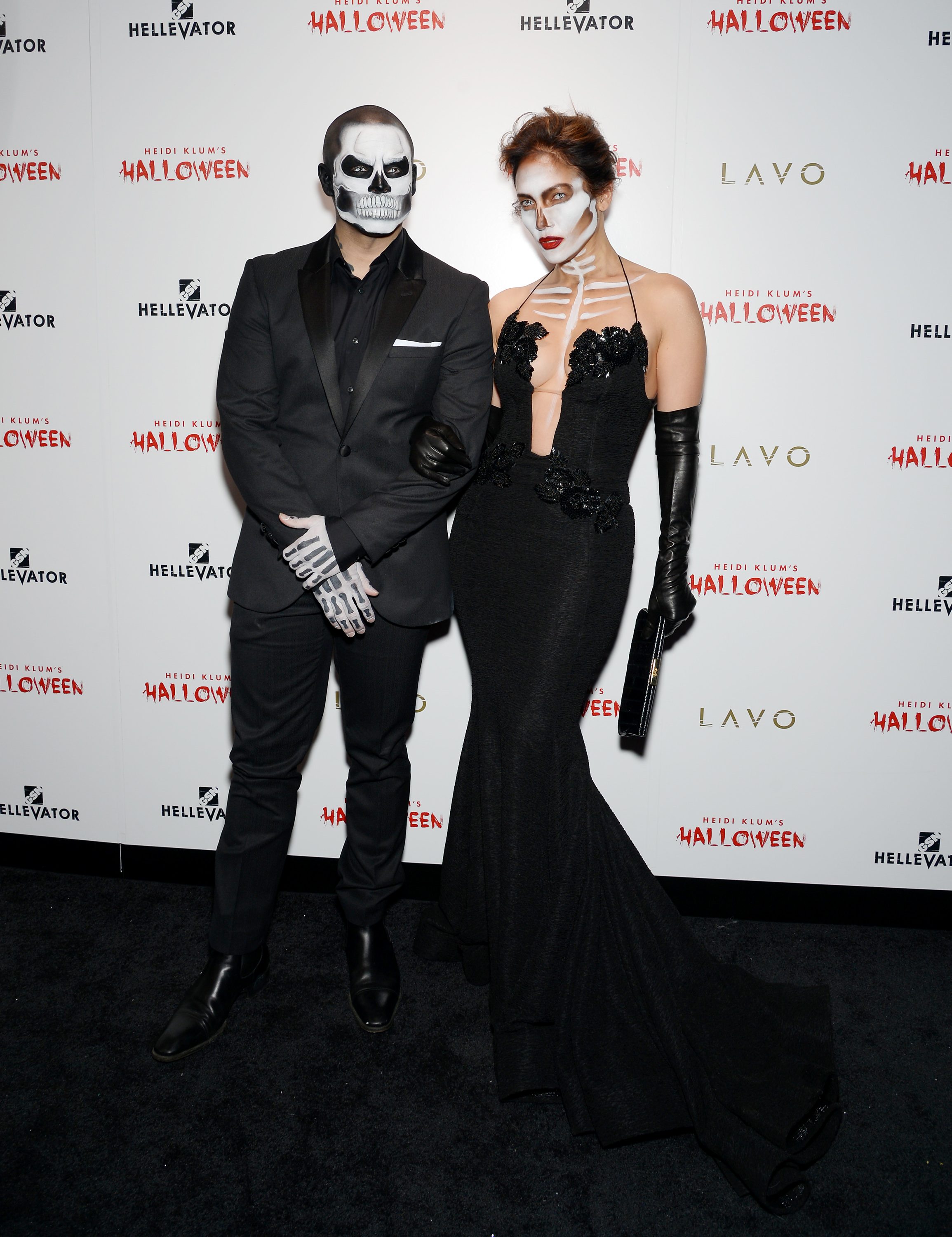 Best Non-Costume Costume: Casper Smart and J. Lo came attired basically like themselves, but with face paint, but still managed to look fabulously on-theme.