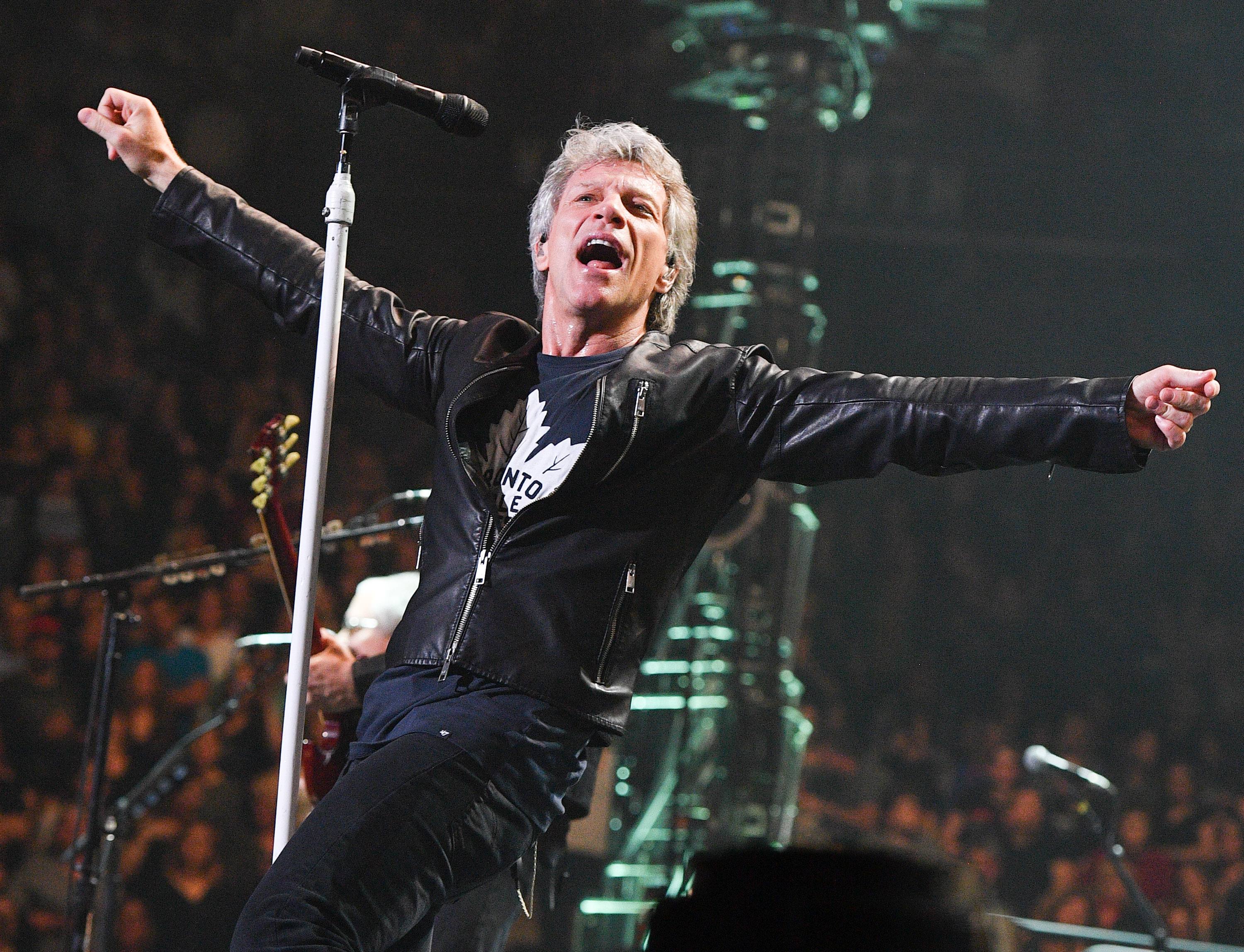Jon Bon Jovi performs live at the Air Canada Centre on April 10, 2017 in Toronto, Canada.