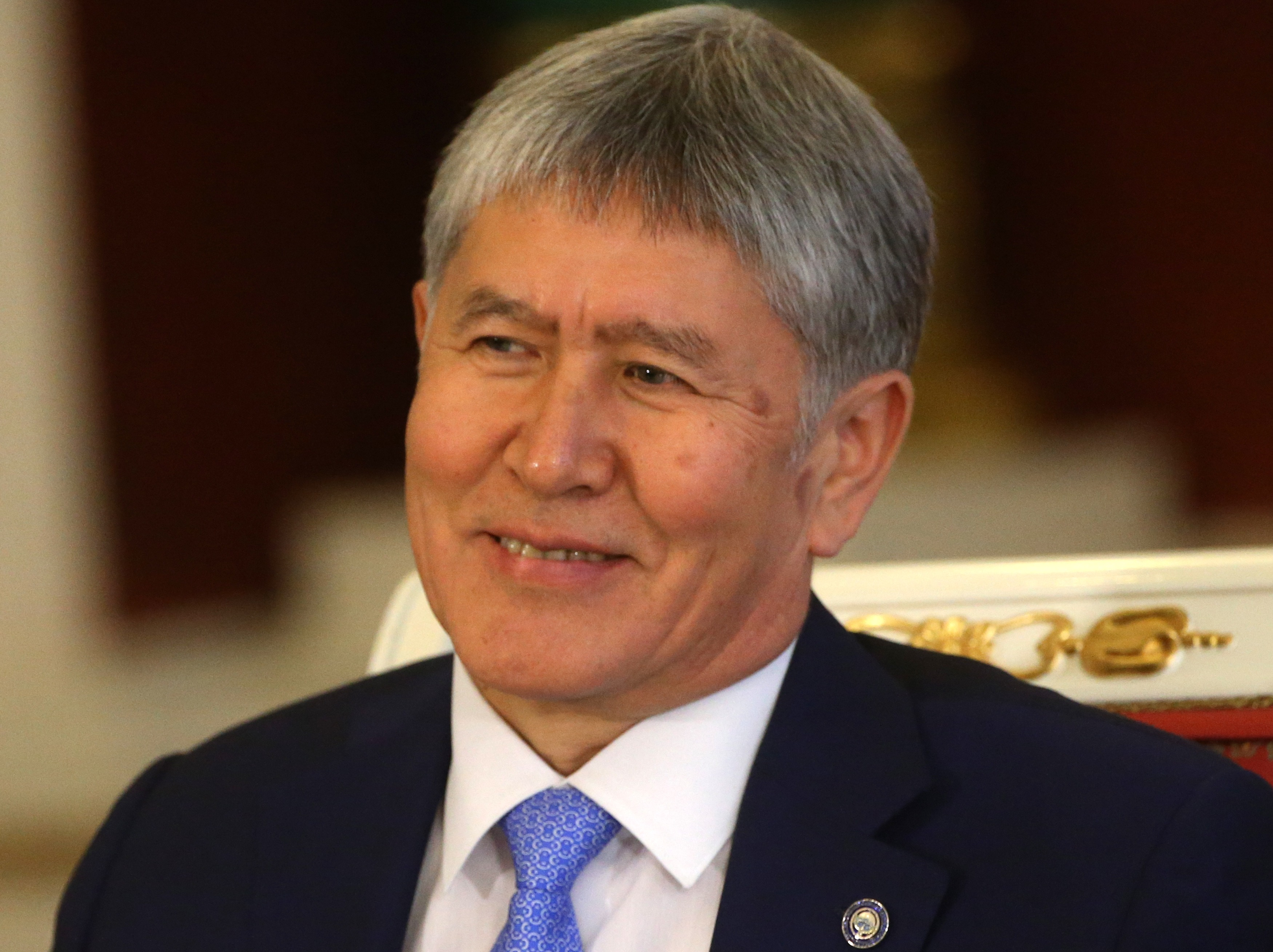 Kyrgyz President Almazbek Atambayev  attends Russian-Kyrgyz talks at the Grand Kremlin Palace on June 20, 2017 in Moscow, Russia