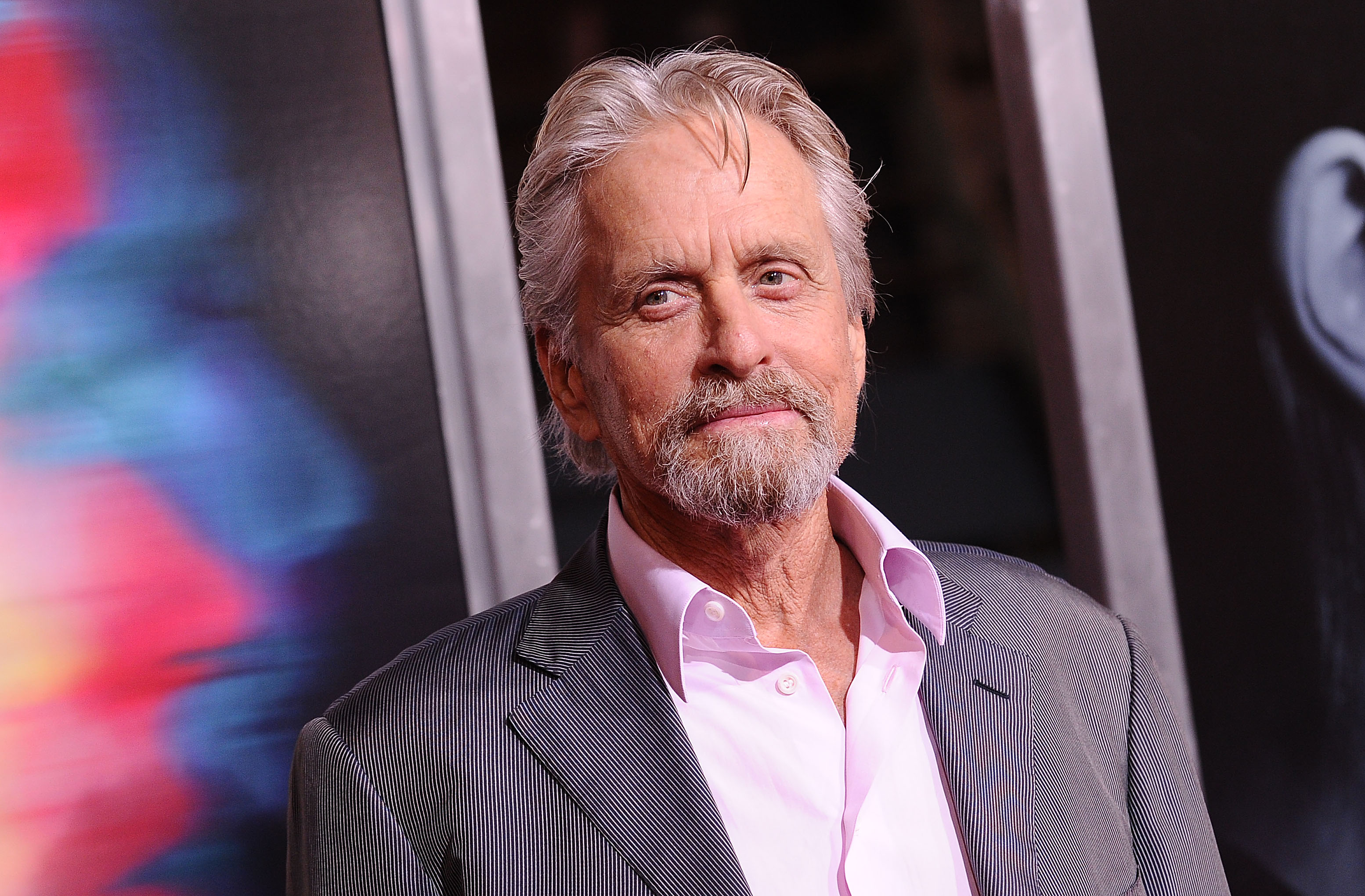 Actor Michael Douglas attends the premiere of  Flatliners  at The Theatre at Ace Hotel on September 27, 2017 in Los Angeles, California.