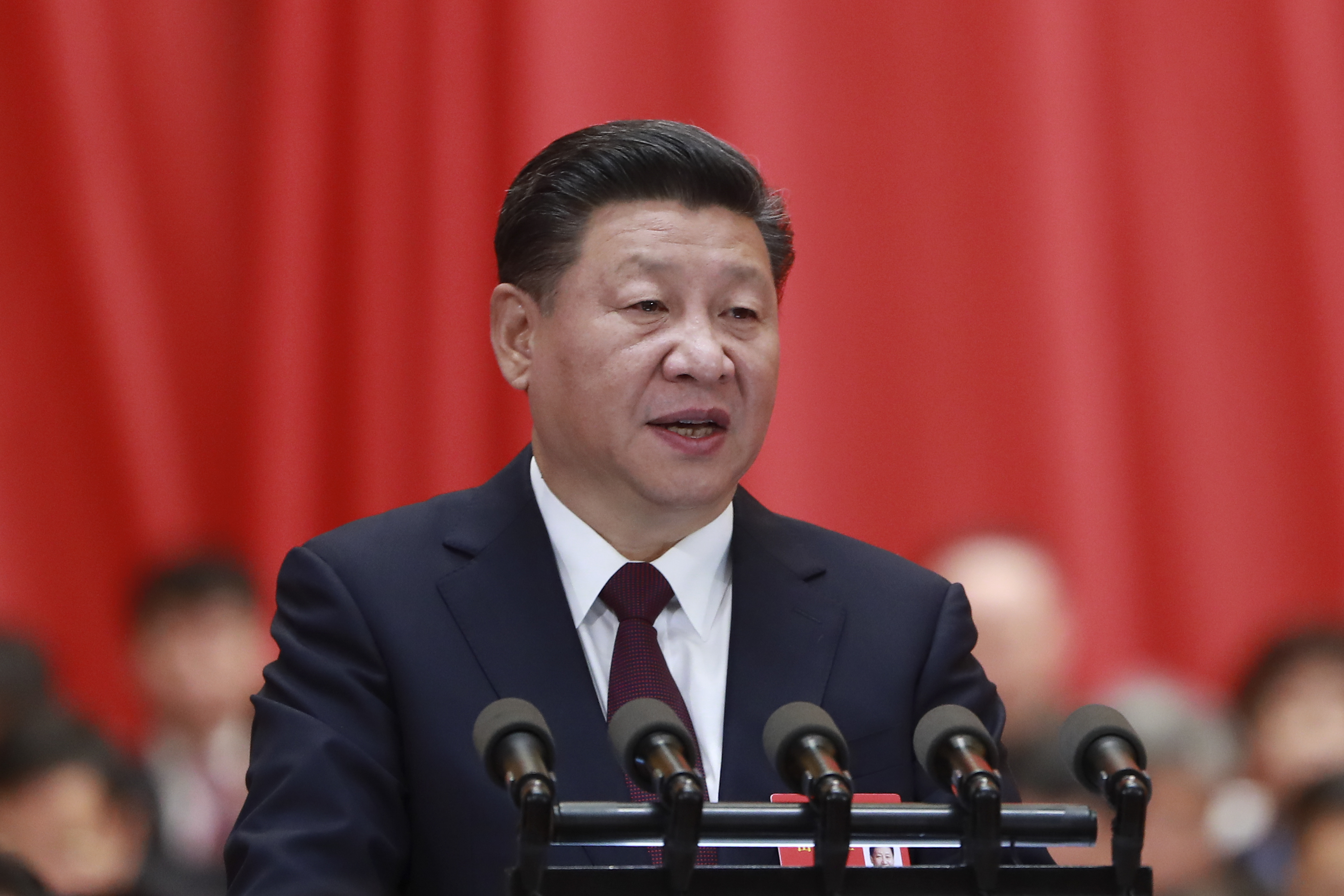 General Secretary Xi Jinping delivers a report at the opening ceremony of the 19th National Congress of the Communist Party of China (CPC) at Great Hall of the People on October 18, 2017 in Beijing, China.