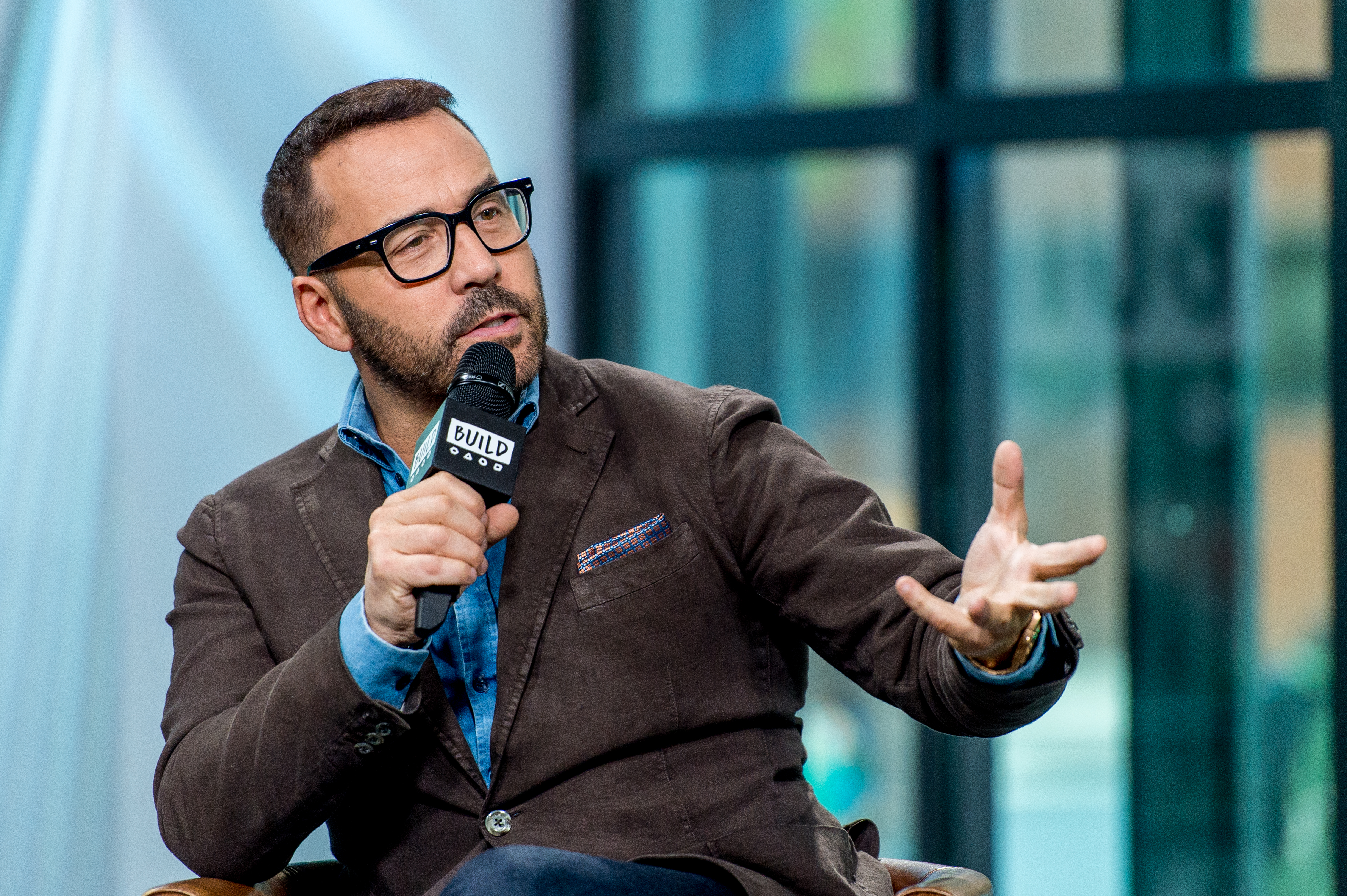 Jeremy Piven discusses  Wisdom Of The Crowd  with the Build Series at Build Studio in New York City on Oct. 31, 2017.