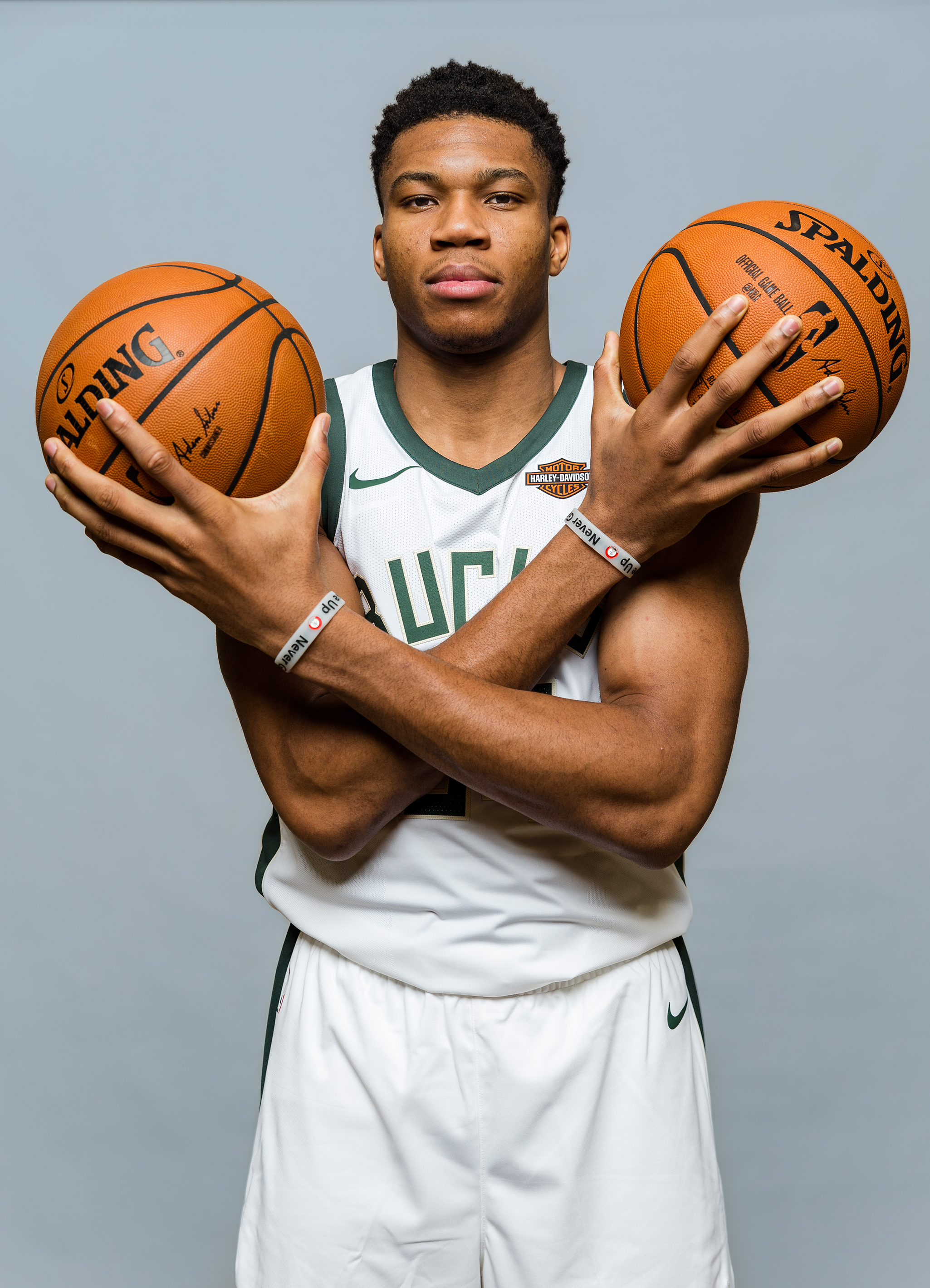 Giannis Antetokounmpo of the Milwaukee Bucks on Sept. 14, 2017.