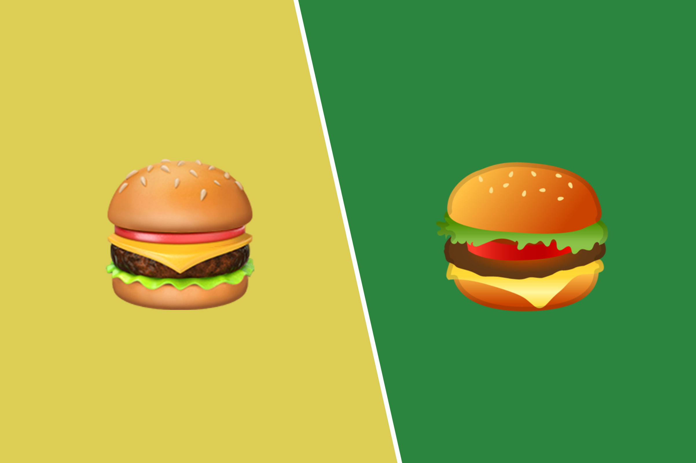 Left, Hamburger on Apple iOS 10.3; Right, Hamburger on Google Android 8.0.