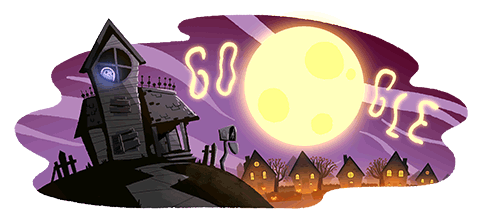 Google celebrates Halloween with a new doodle.