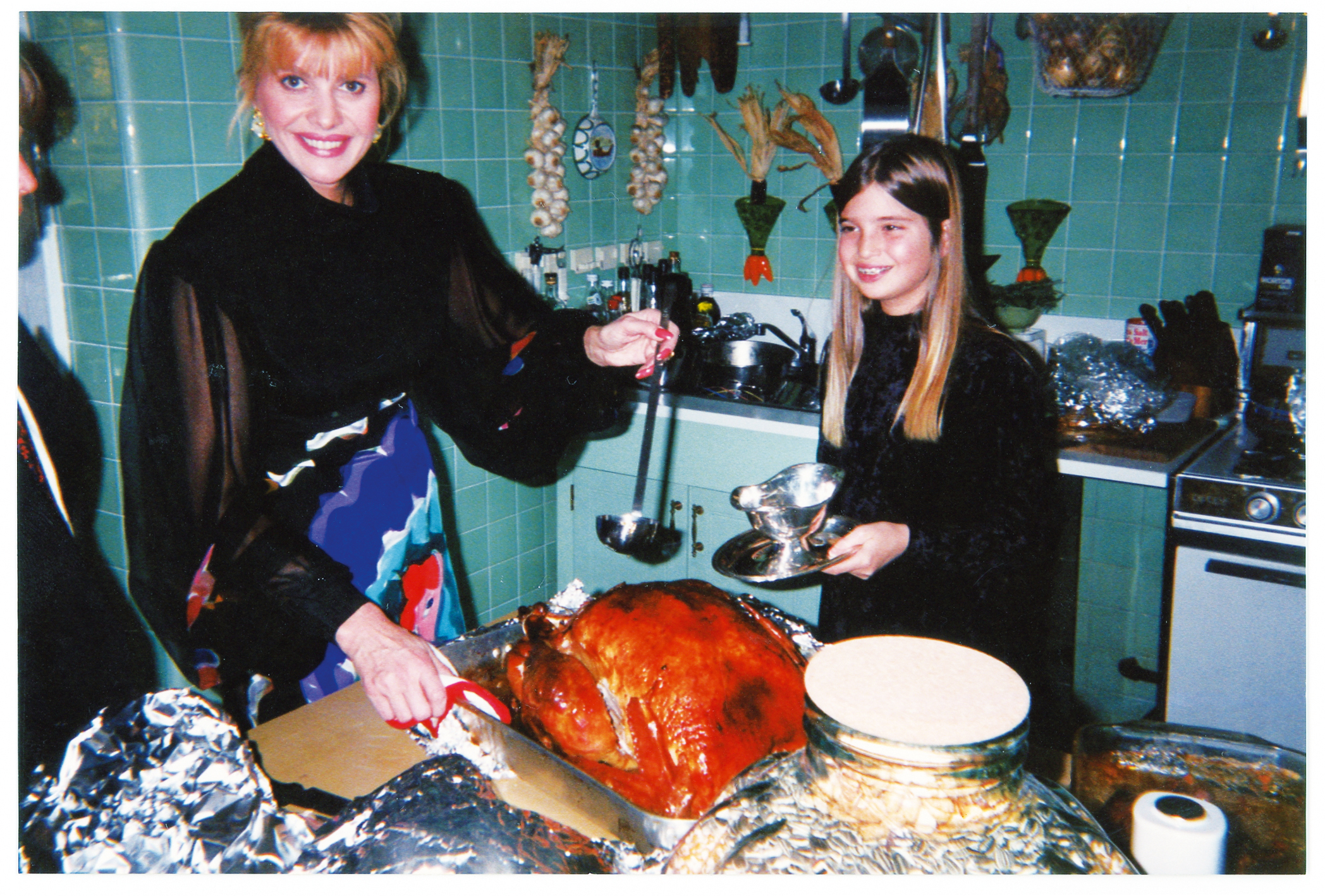 """Thanksgiving in Greenwich, with a gigantic turkey and helpful Ivanka. I'd start                                   cooking at five a.m. to feed a small army of Trumps, 1988."""