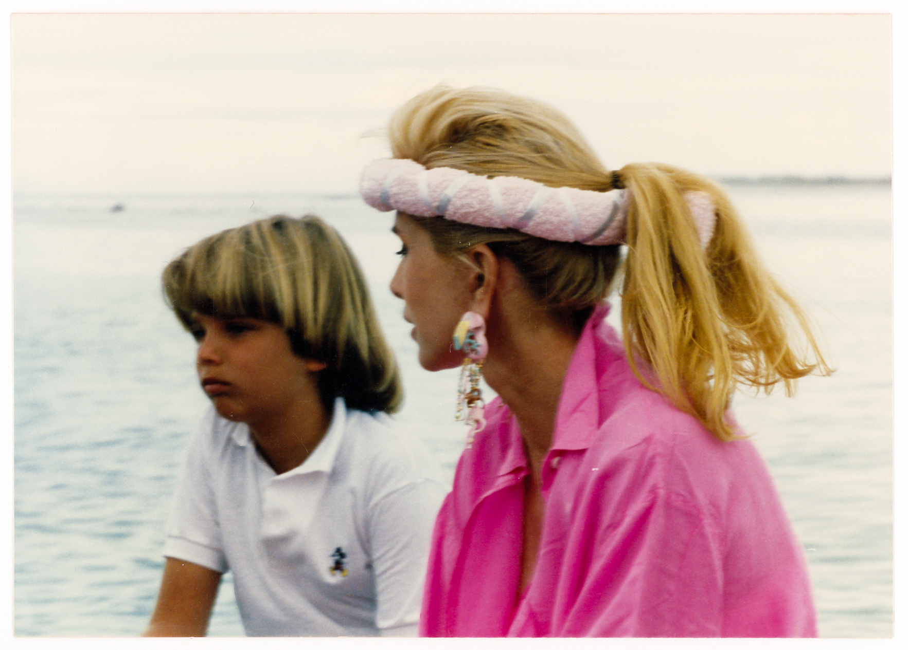 """An eighties headband moment with Don Jr., circa 1986."""