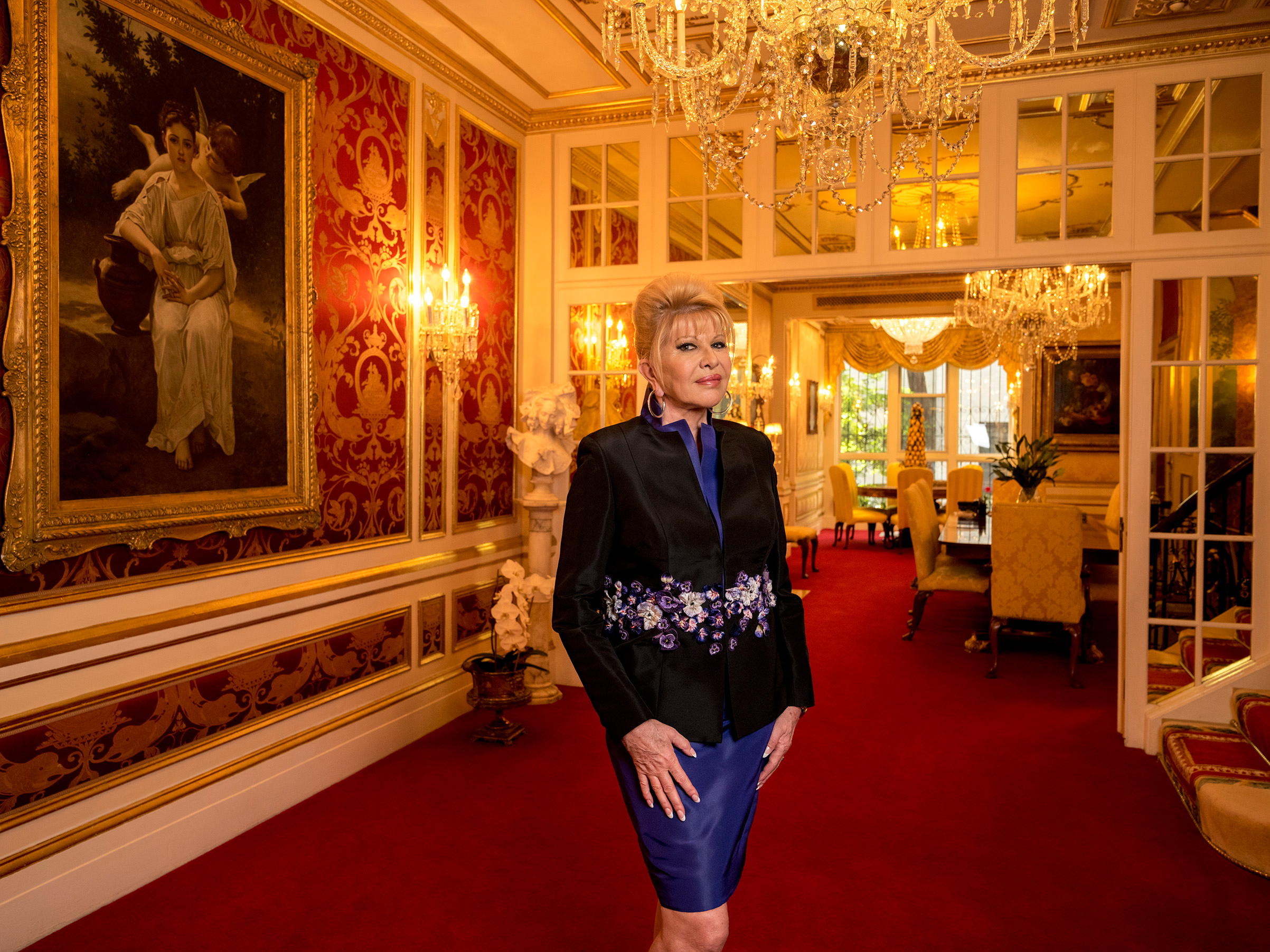 Ivana Trump at home in New York City on Oct. 6, 2017.