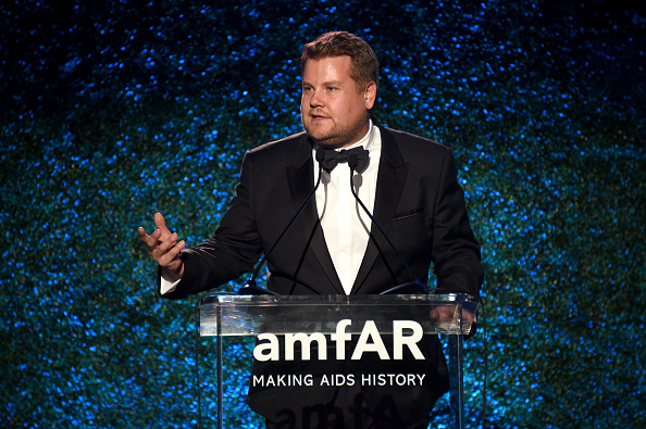 James Corden speaks onstage at amfAR Los Angeles 2017 at Ron Burkle's Green Acres Estate on October 13, 2017 in Beverly Hills, California.