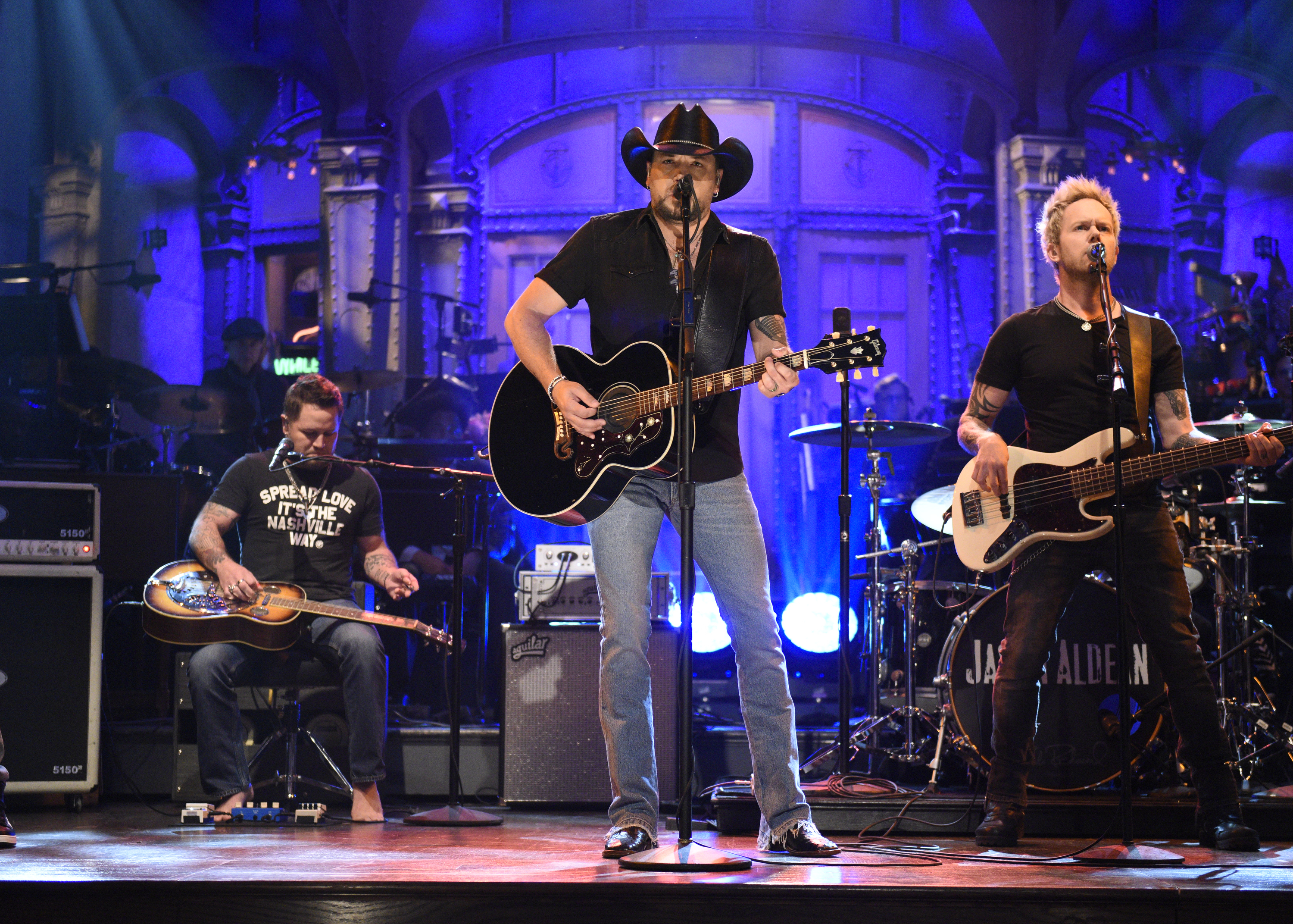 Jason Aldean performs  I Won't Back Down  on  Saturday Night Live  on Oct. 7, 2017.