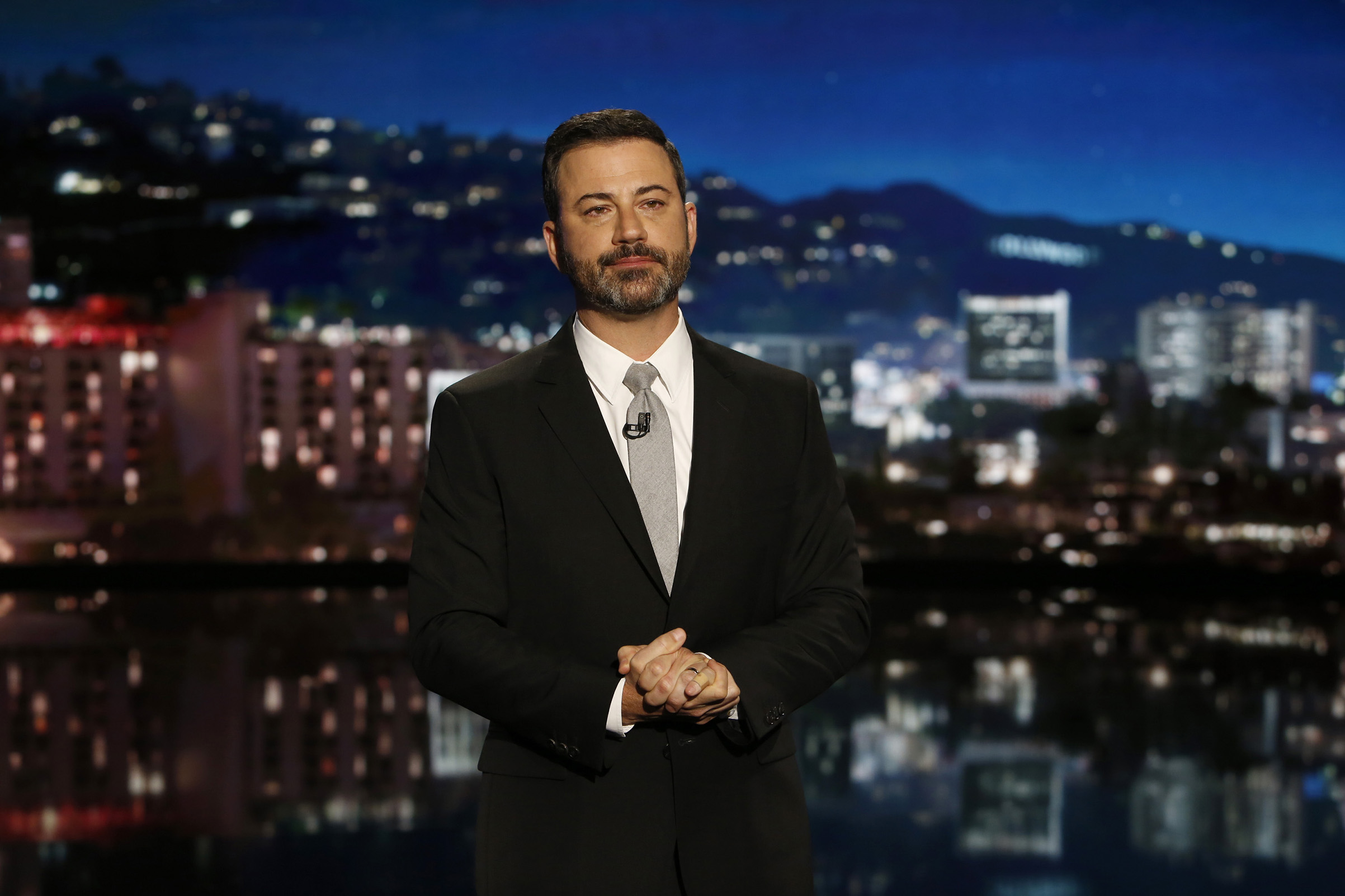 Jimmy Kimmel on  Jimmy Kimmel Live  on Oct. 2, 2017.