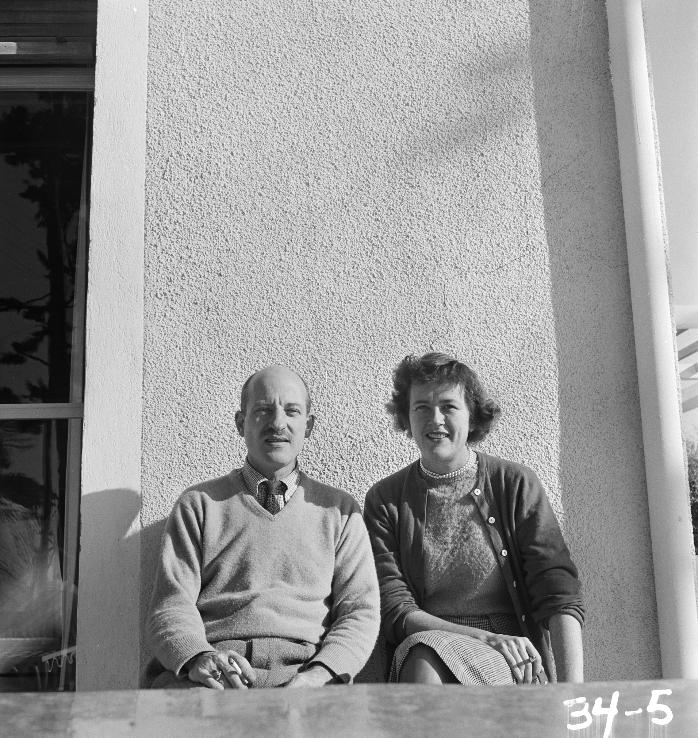 Paul and Julia Child, Marseille, 1950.