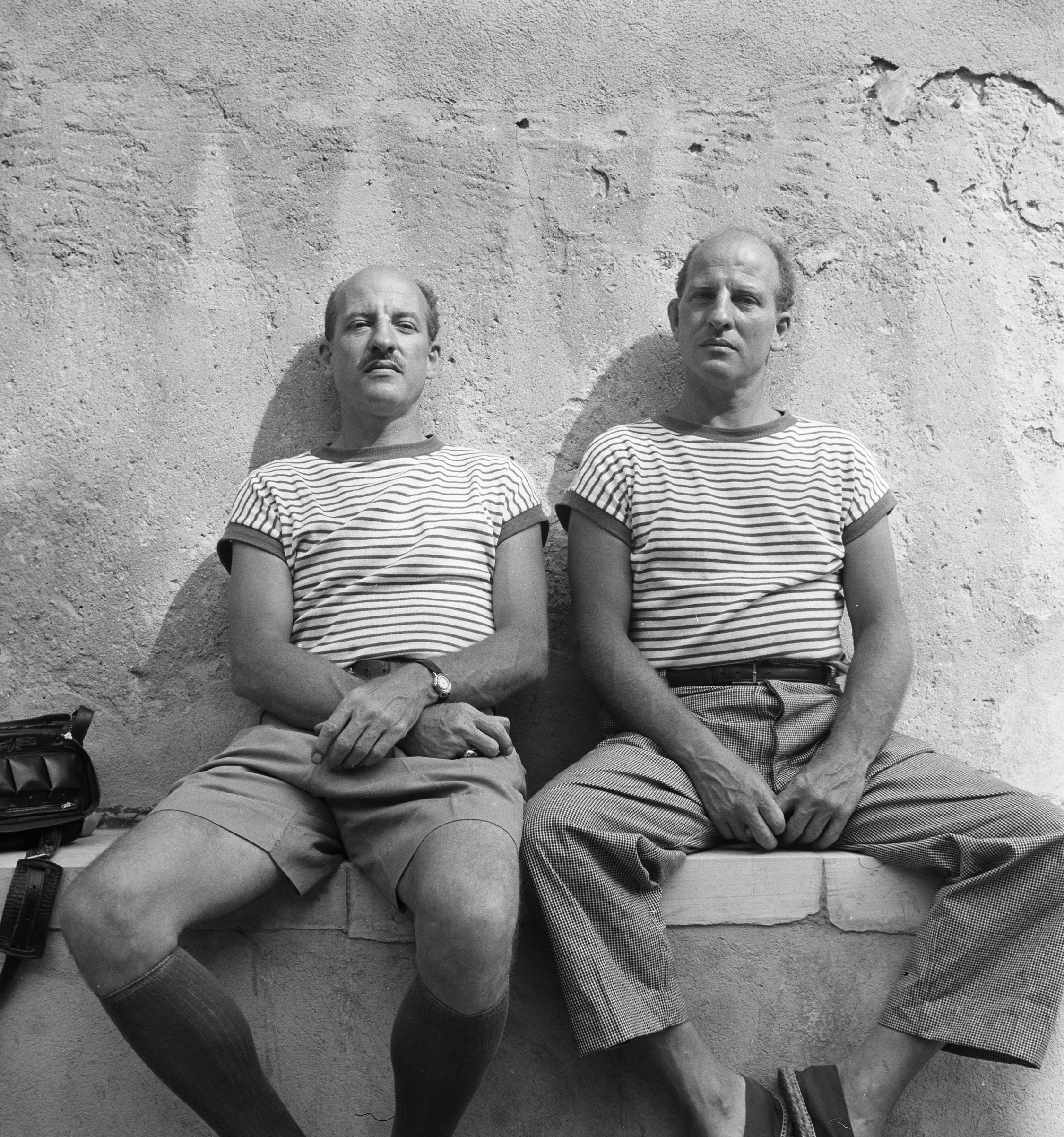 Paul and Charles Child, Cassis, 1950.