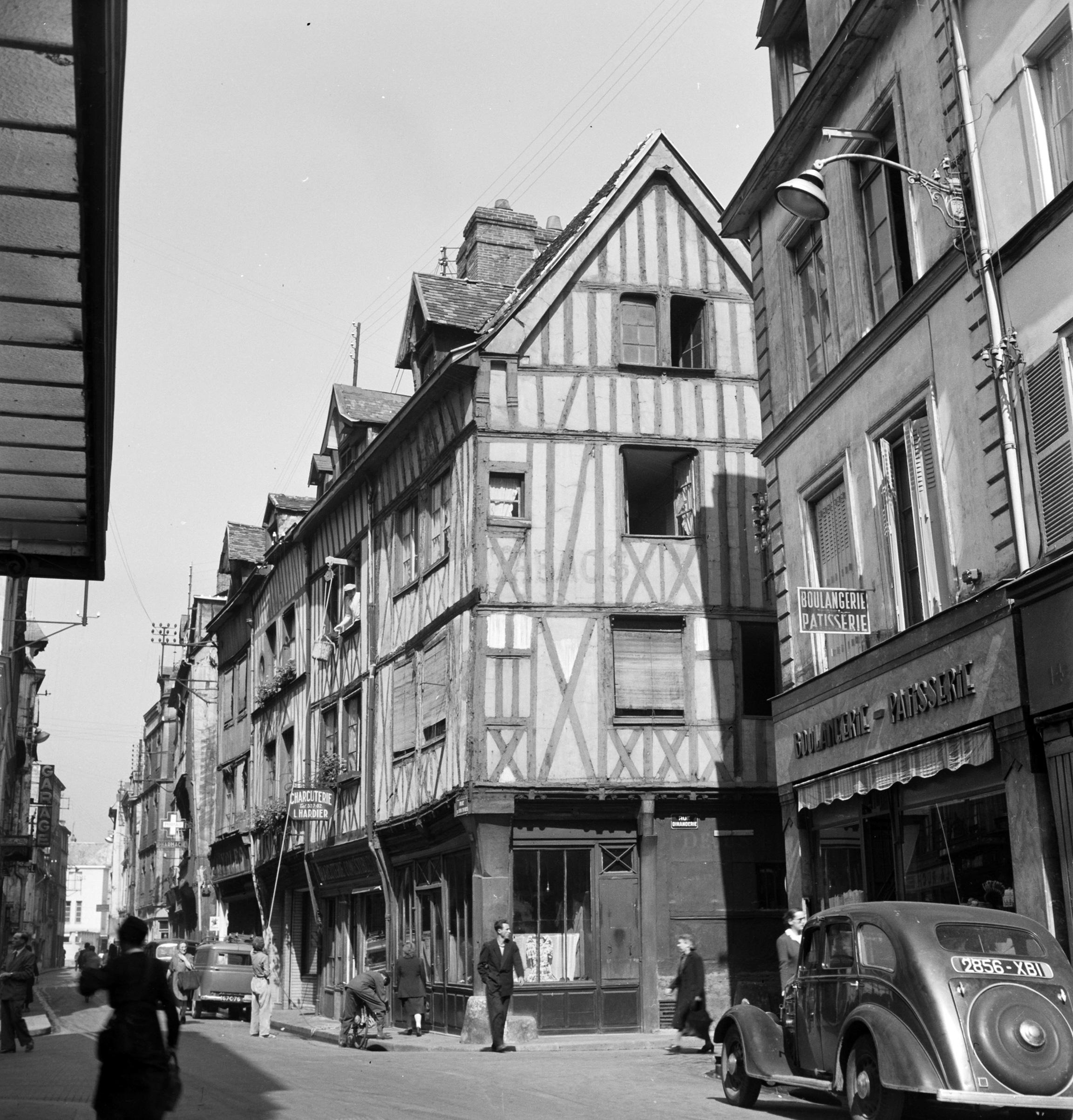 Corner house, Rouen, 1951.