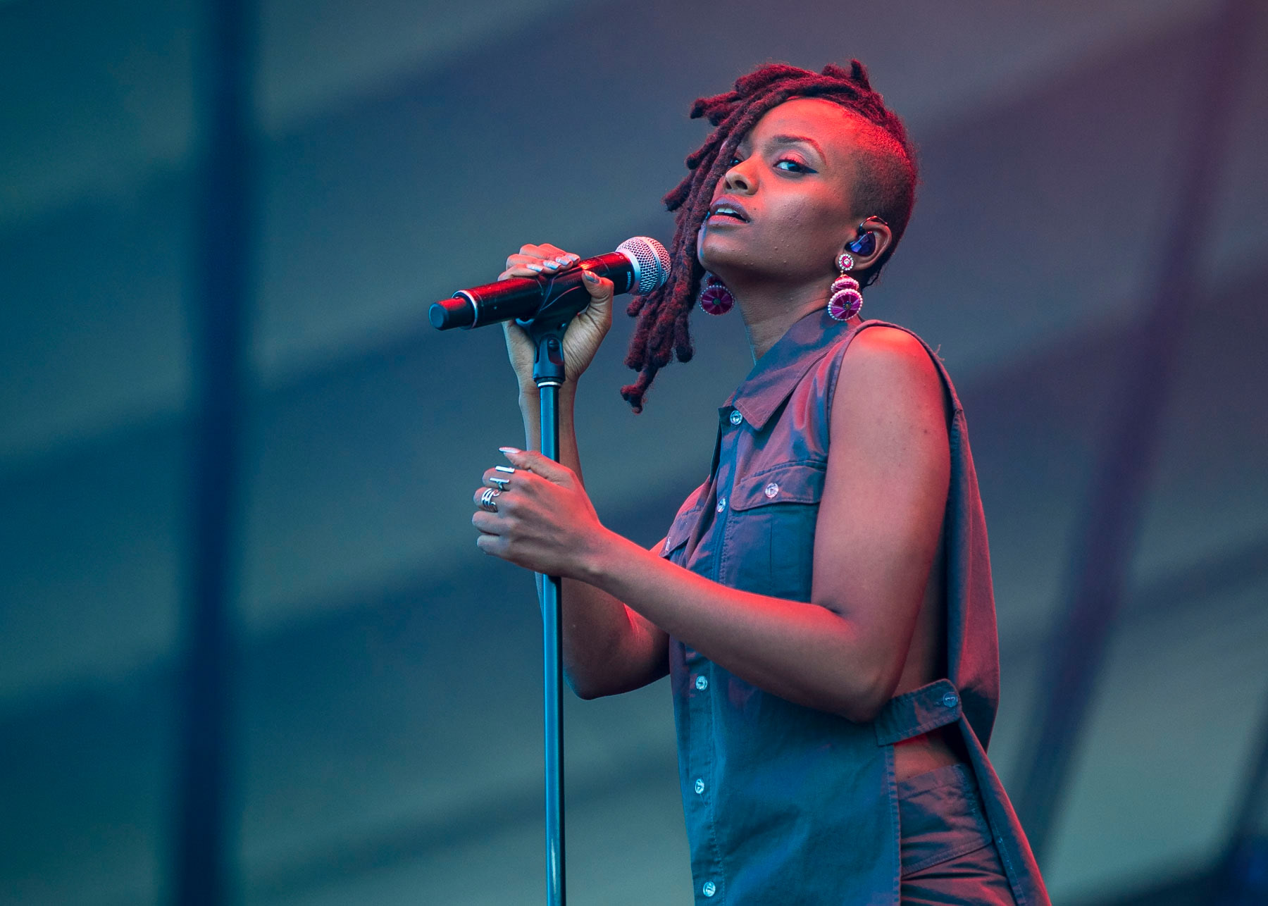 QUEBEC CITY, QC - JULY 15:  Kelela performs on July 15, 2017 in Quebec City, Canada.  (Photo by Scott Legato/Getty Images)