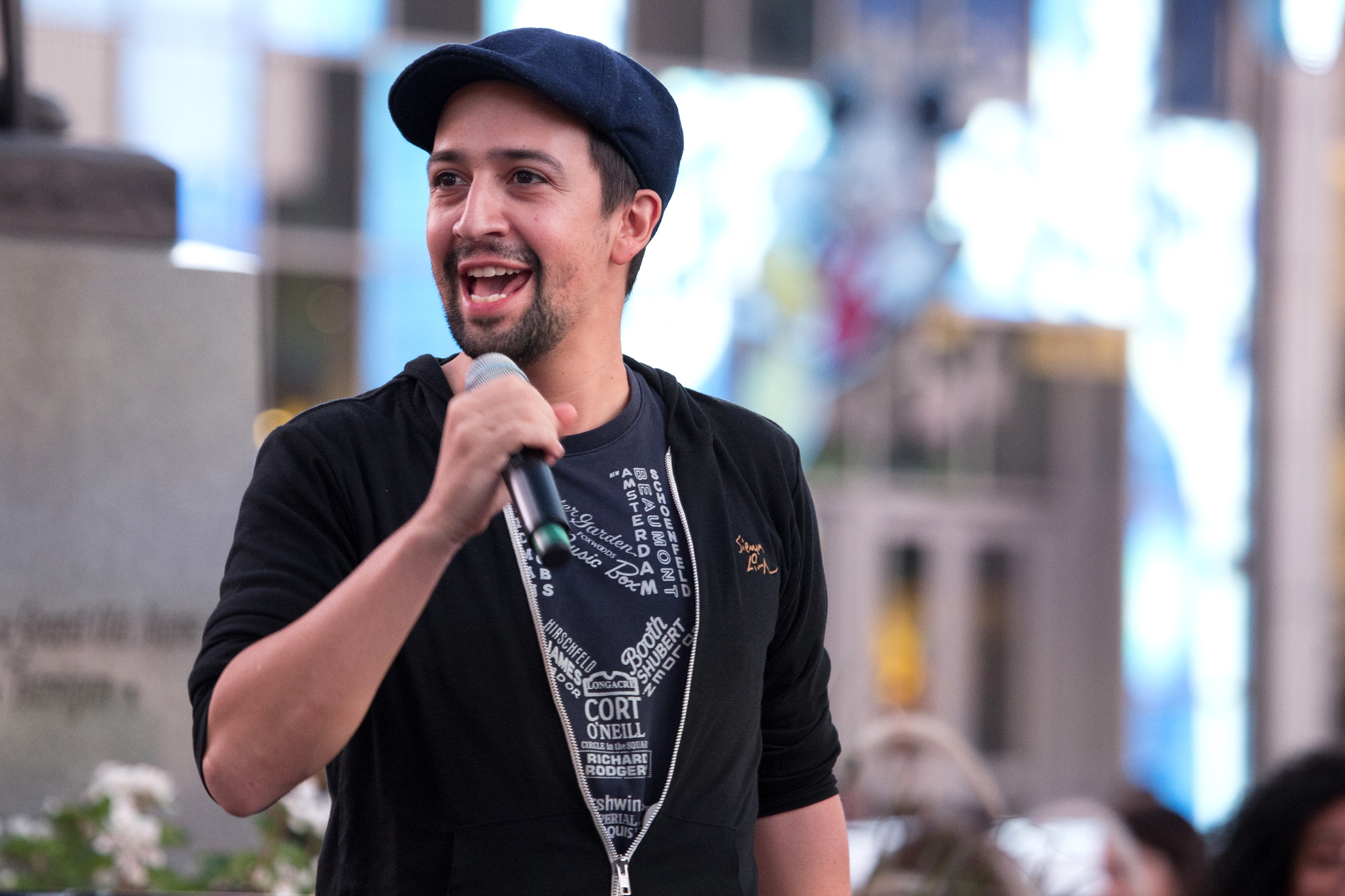 NEW YORK, NY - SEPTEMBER 15:  Lin-Manuel Miranda attends Viva Broadway Special Event at Duffy Square on September 15, 2017 in New York City.  (Photo by Santiago Felipe/Getty Images)