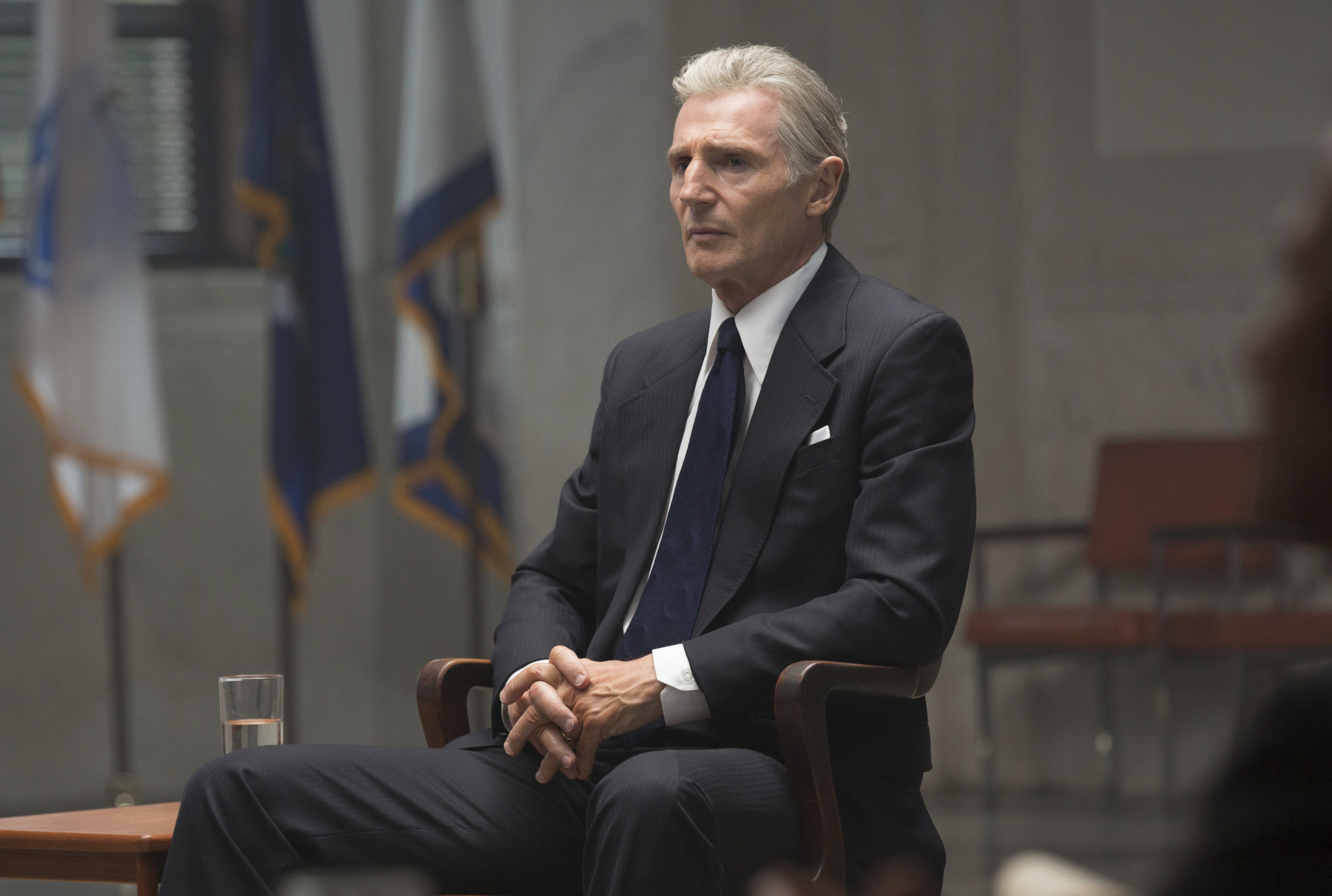 This image released by Sony Pictures Classics shows Liam Neeson in  Mark Felt: The Man Who Brought Down the White House.