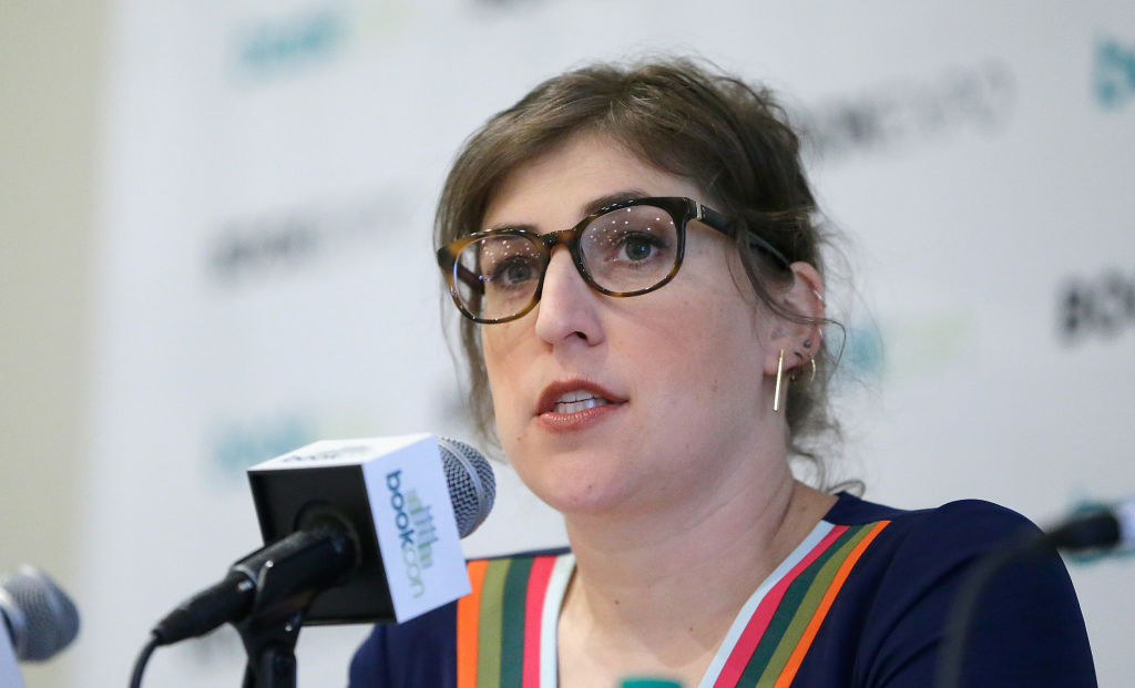 Mayim Bialik speaks during the  Girl Up  panel at BookCon 2017 at Javits Center on June 3, 2017 in New York City.